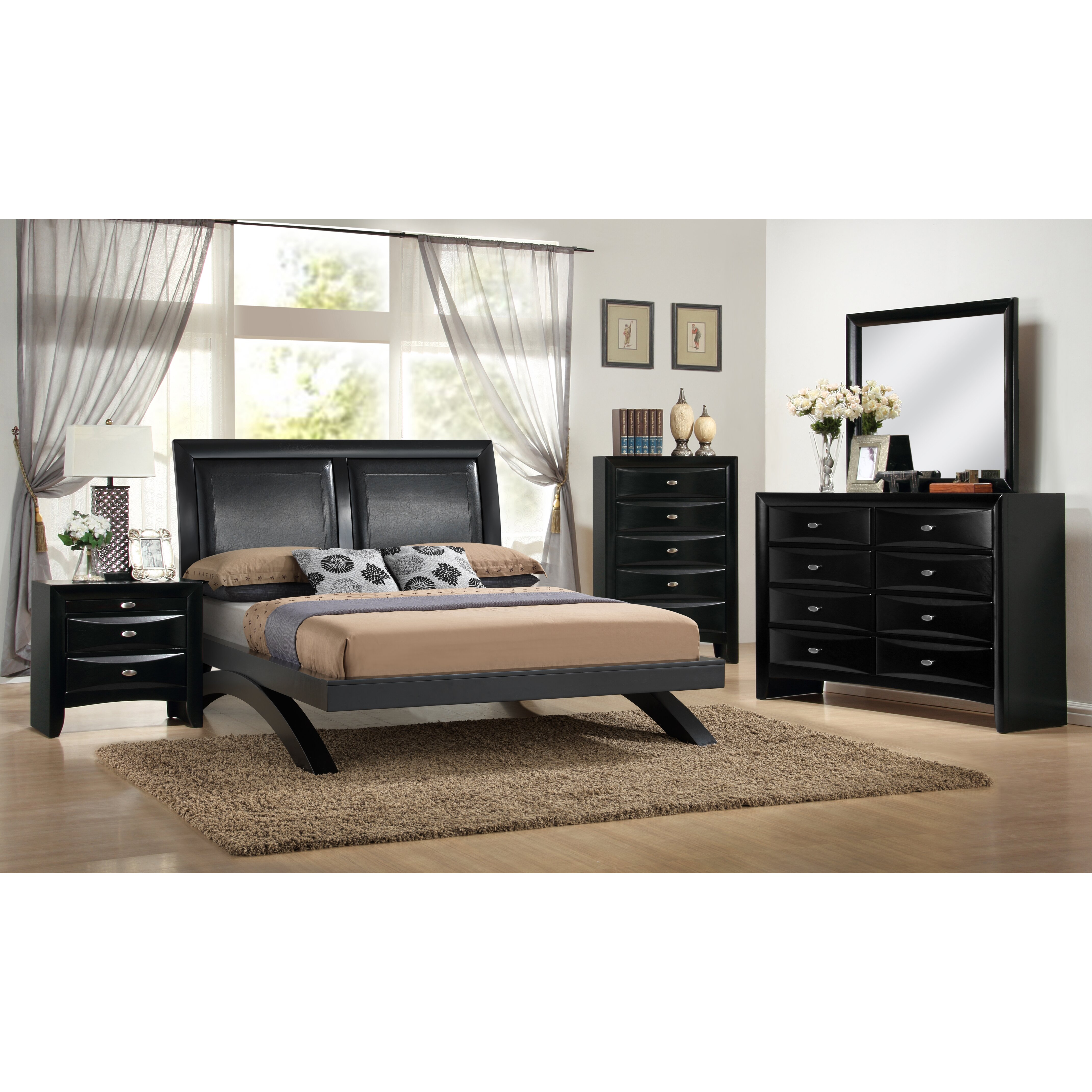 Roundhill Furniture Blemerey 5 Piece Platform Bedroom Set Reviews