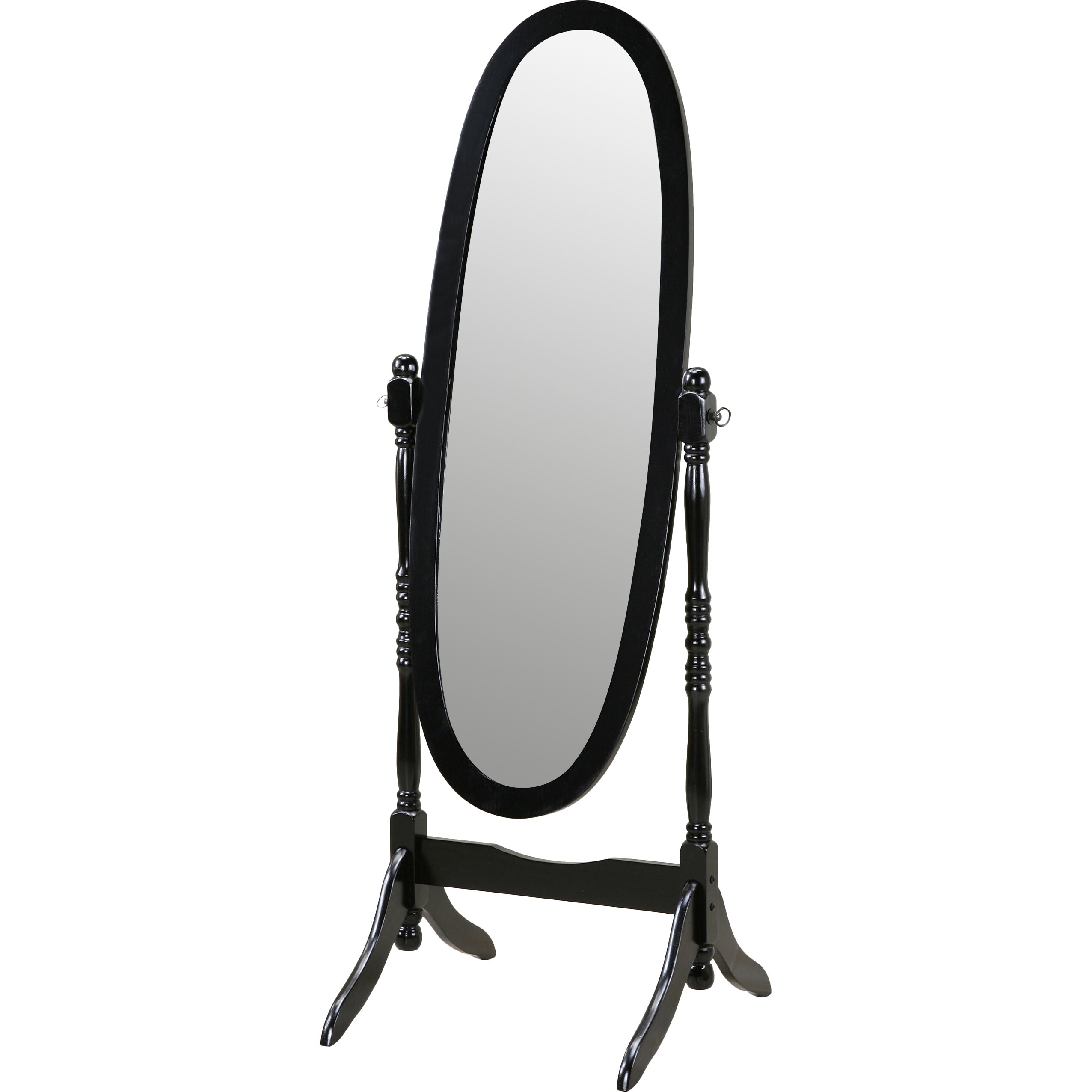 Roundhill furniture traditional floor cheval mirror for Traditional mirror