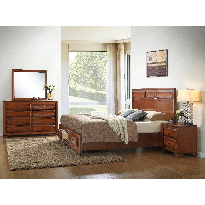 Furniture Store Oakland: Roundhill Furniture Oakland Platform Bedroom Set