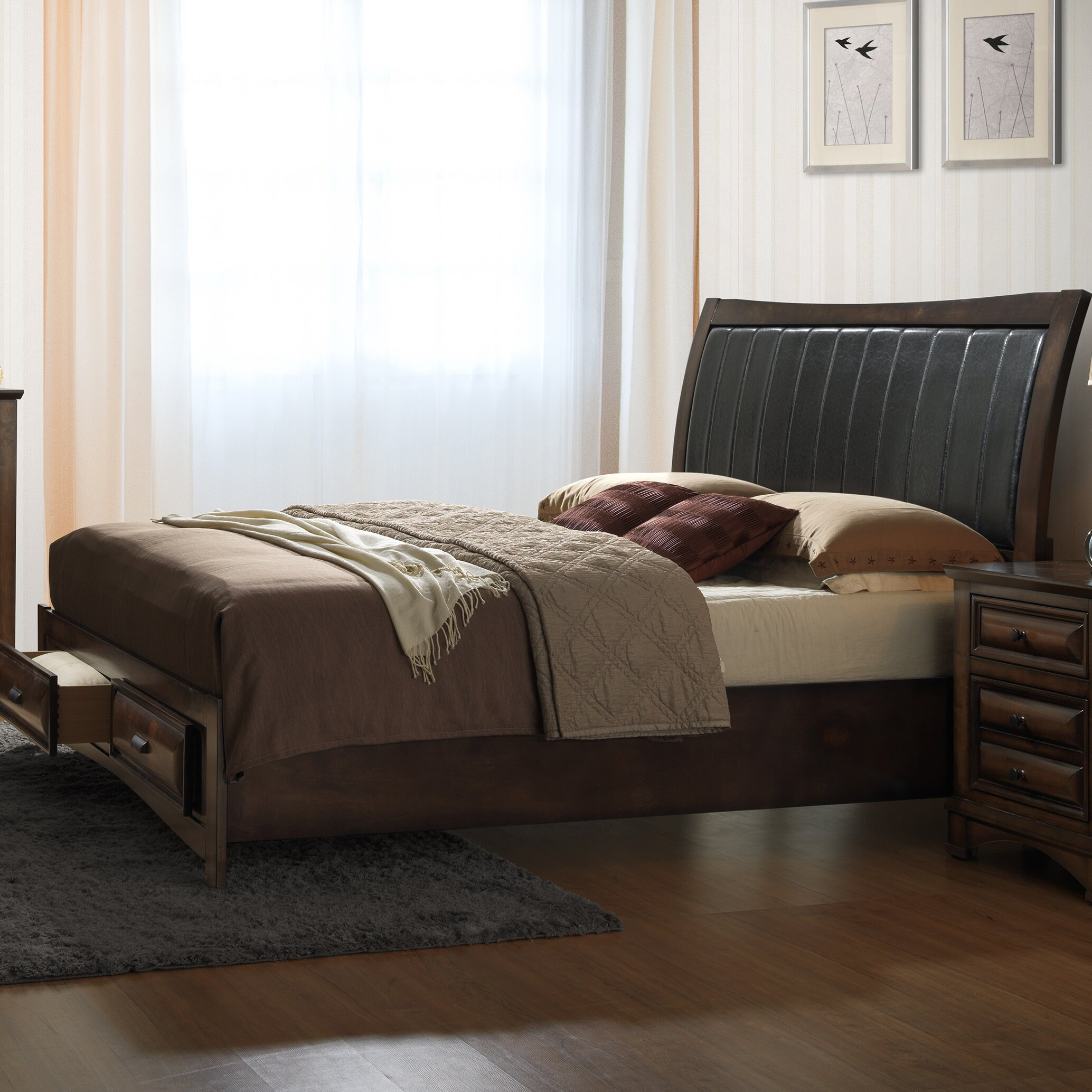 roundhill furniture broval platform 6 piece bedroom set wayfair