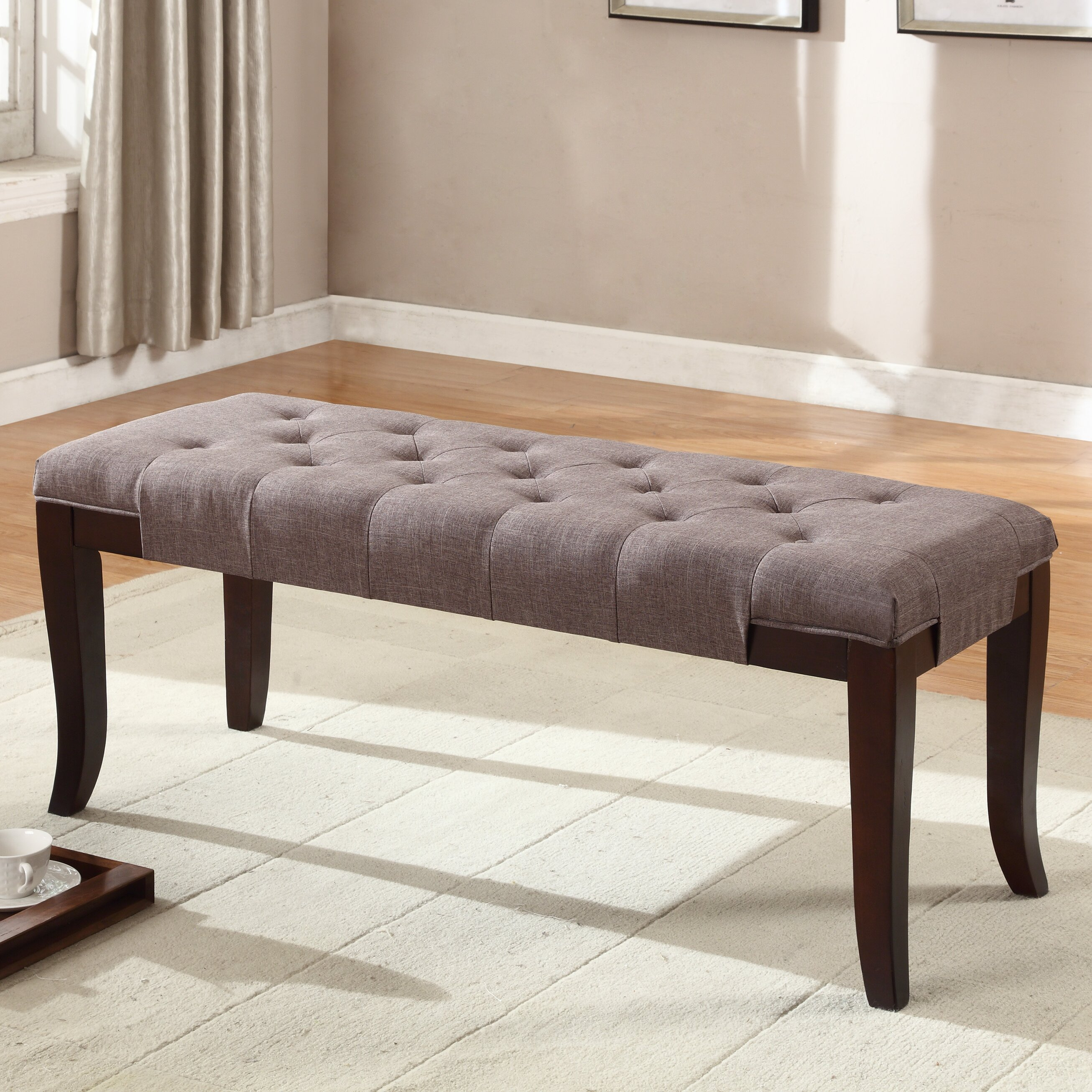 roundhill furniture linion bedroom bench wayfair