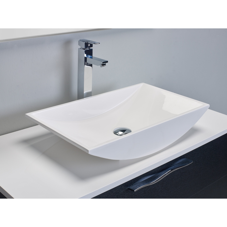 Eviva zenvi 39 single modern bathroom vanity set wayfair - Linden modern bathroom vanity set ...