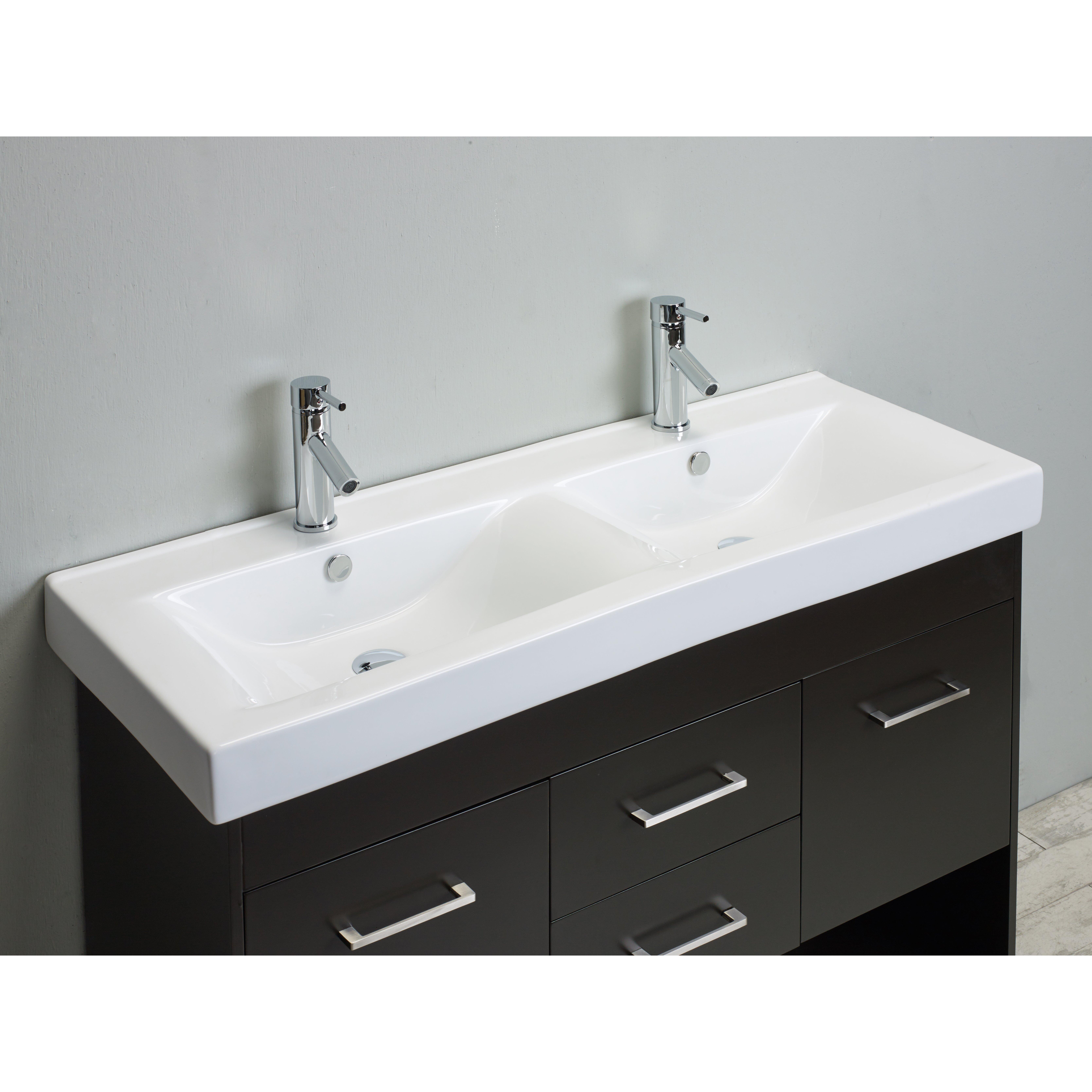 Eviva Gloria 48 Espresso Double Bathroom Vanity Set With
