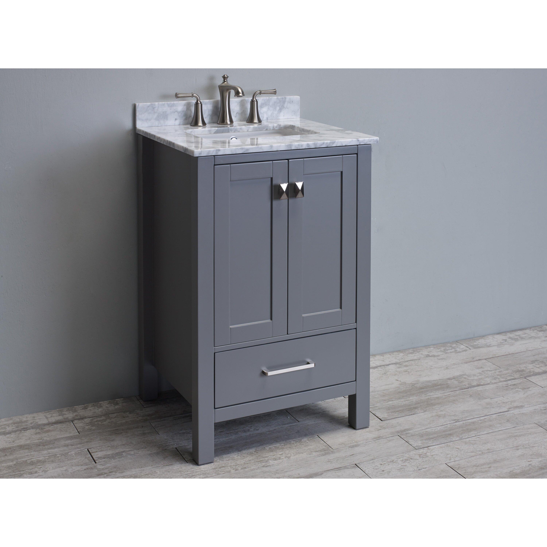 Eviva Aberdeen 24 Transitional Single Bathroom Vanity Set Wayfair Supply