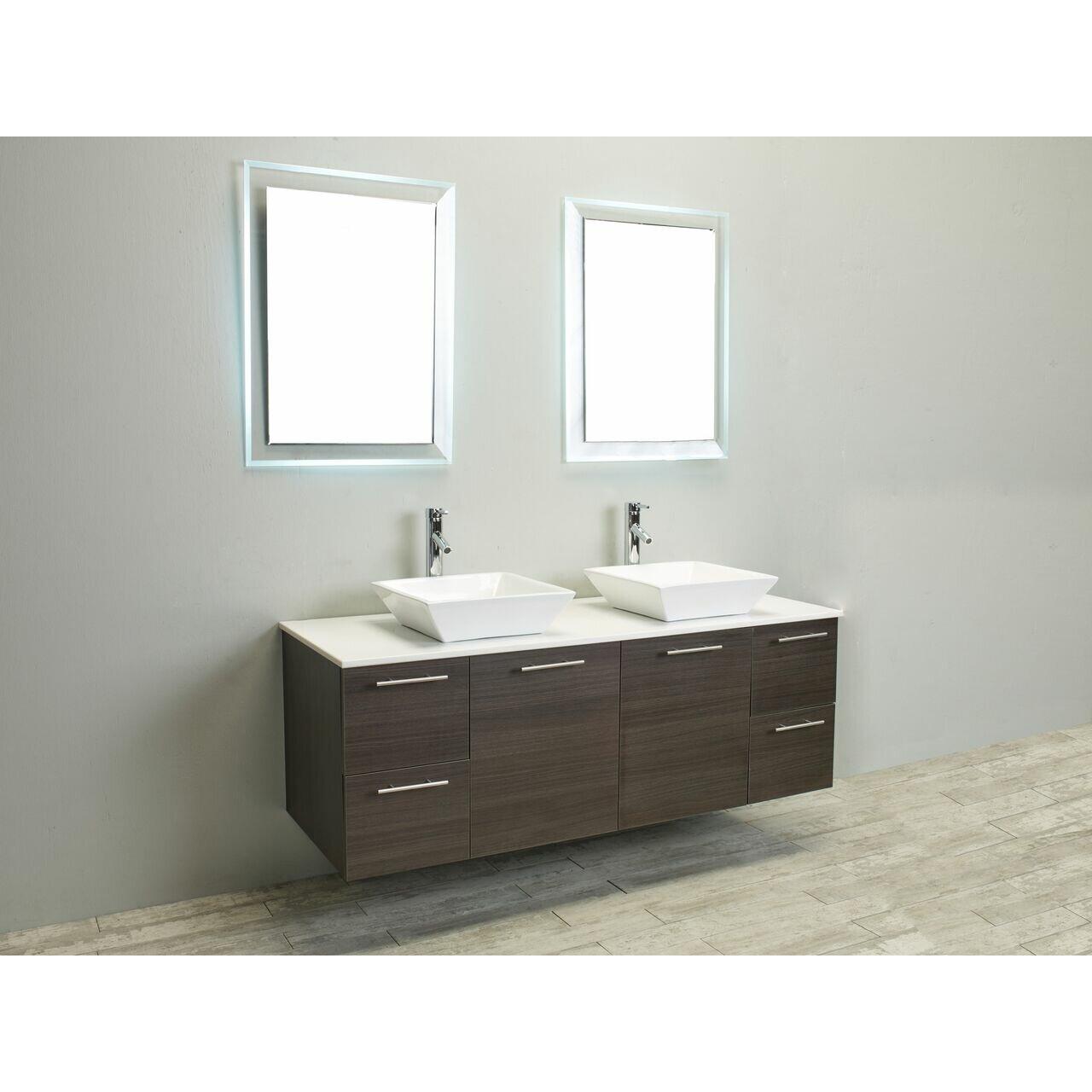 eviva luxury 60 quot bathroom vanity wayfair