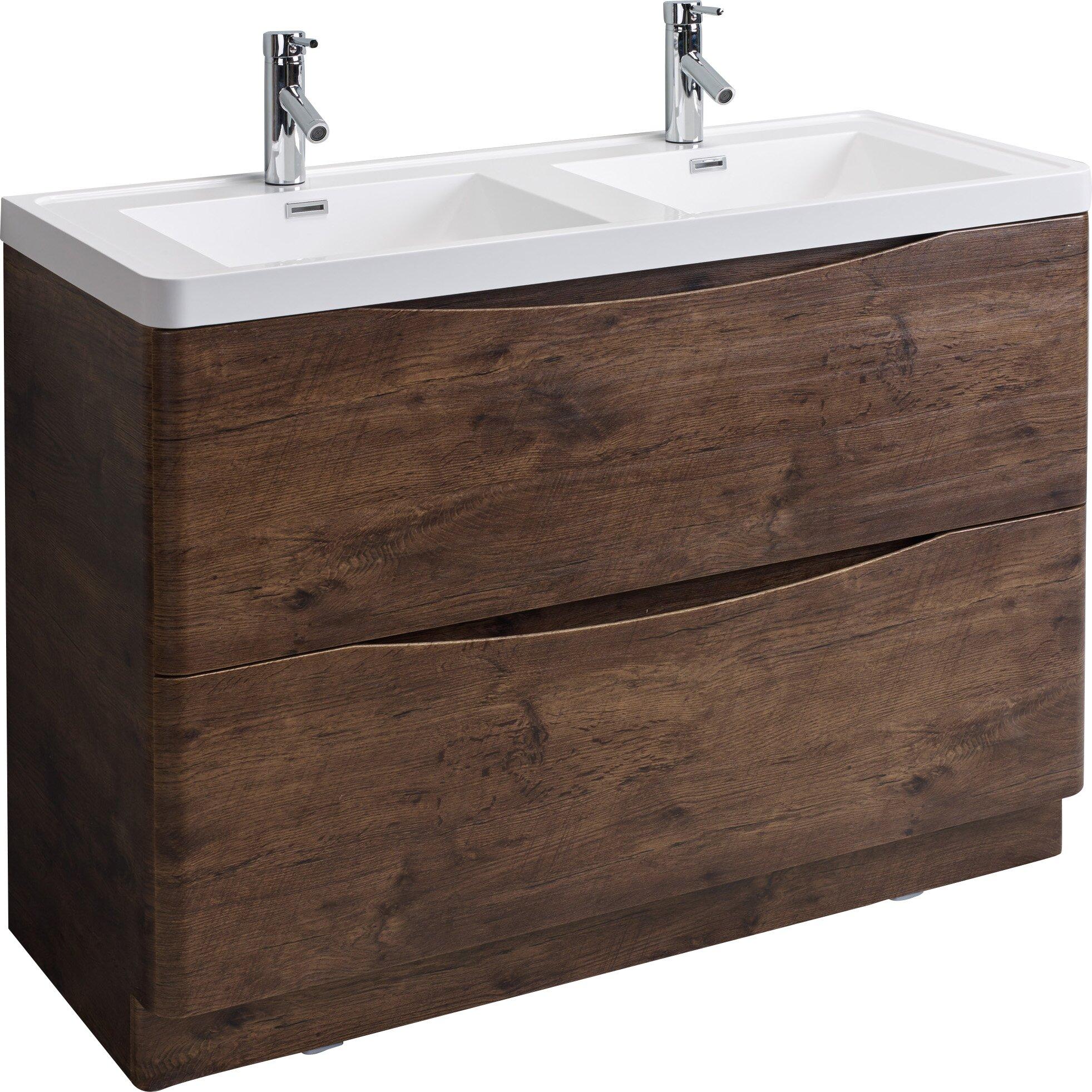Eviva Smile 48 Double Modern Bathroom Vanity Set Reviews Wayfair