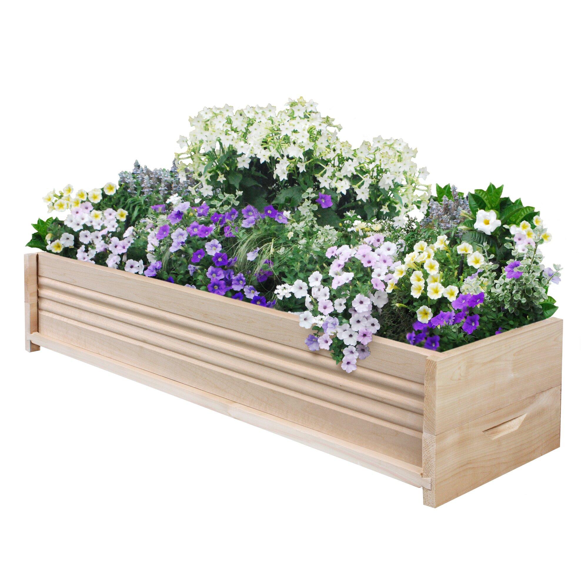 Planter Fence: Greenes Fence Rectangular Planter Box