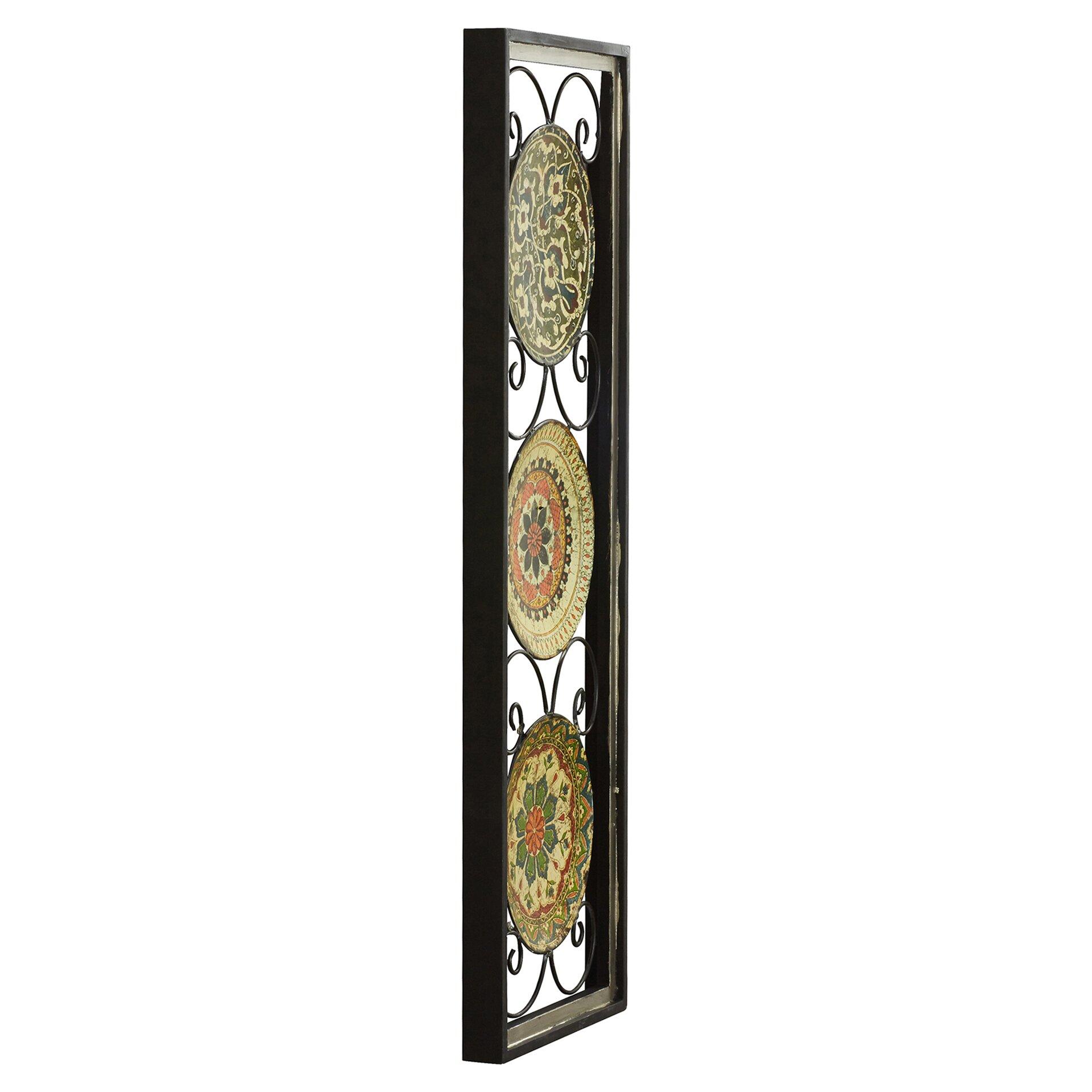 Wall Decor Wood Metal : Bungalow rose wyatt metal wood wall d?cor reviews wayfair