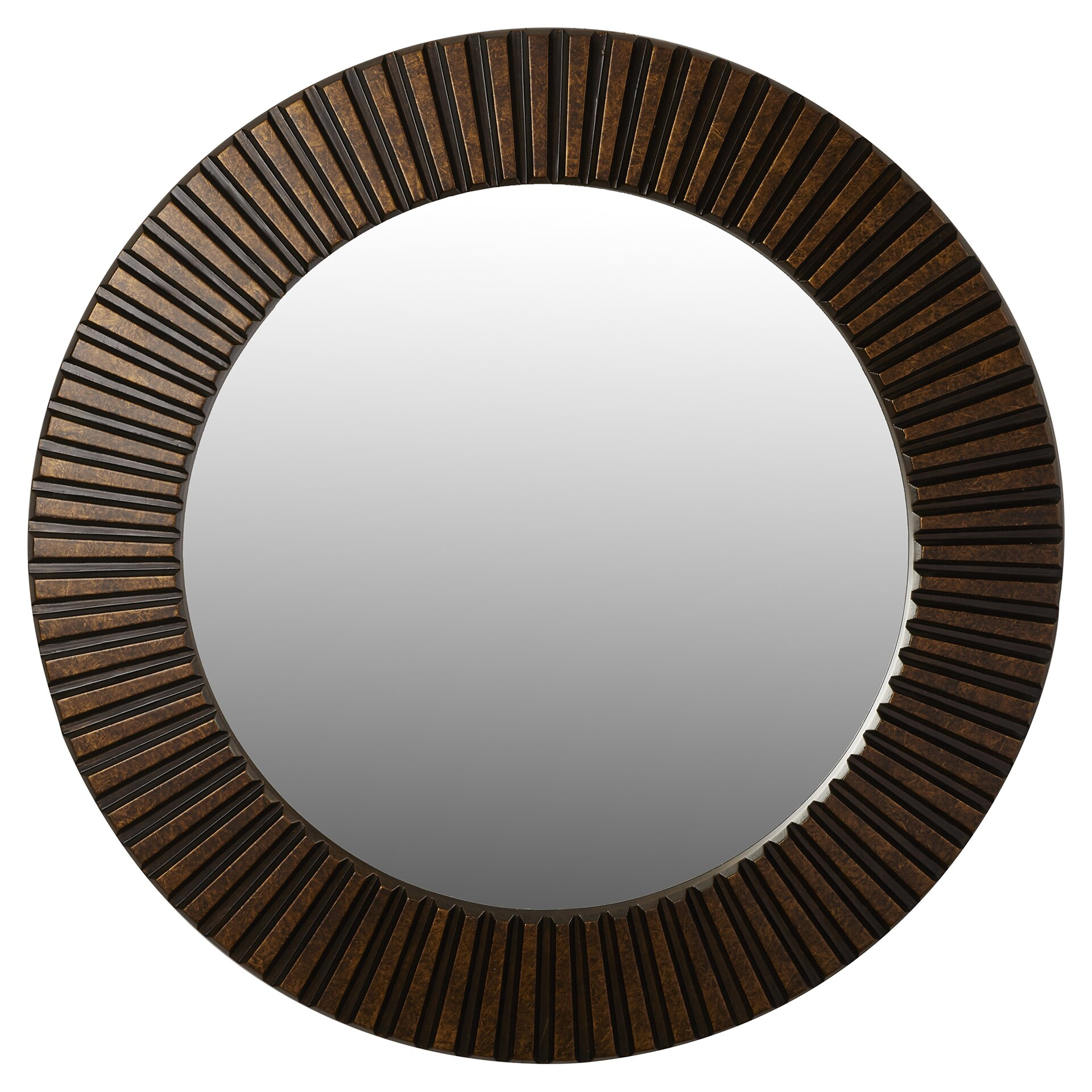 Bungalow rose sneek round wall mirror reviews wayfair for Round mirror