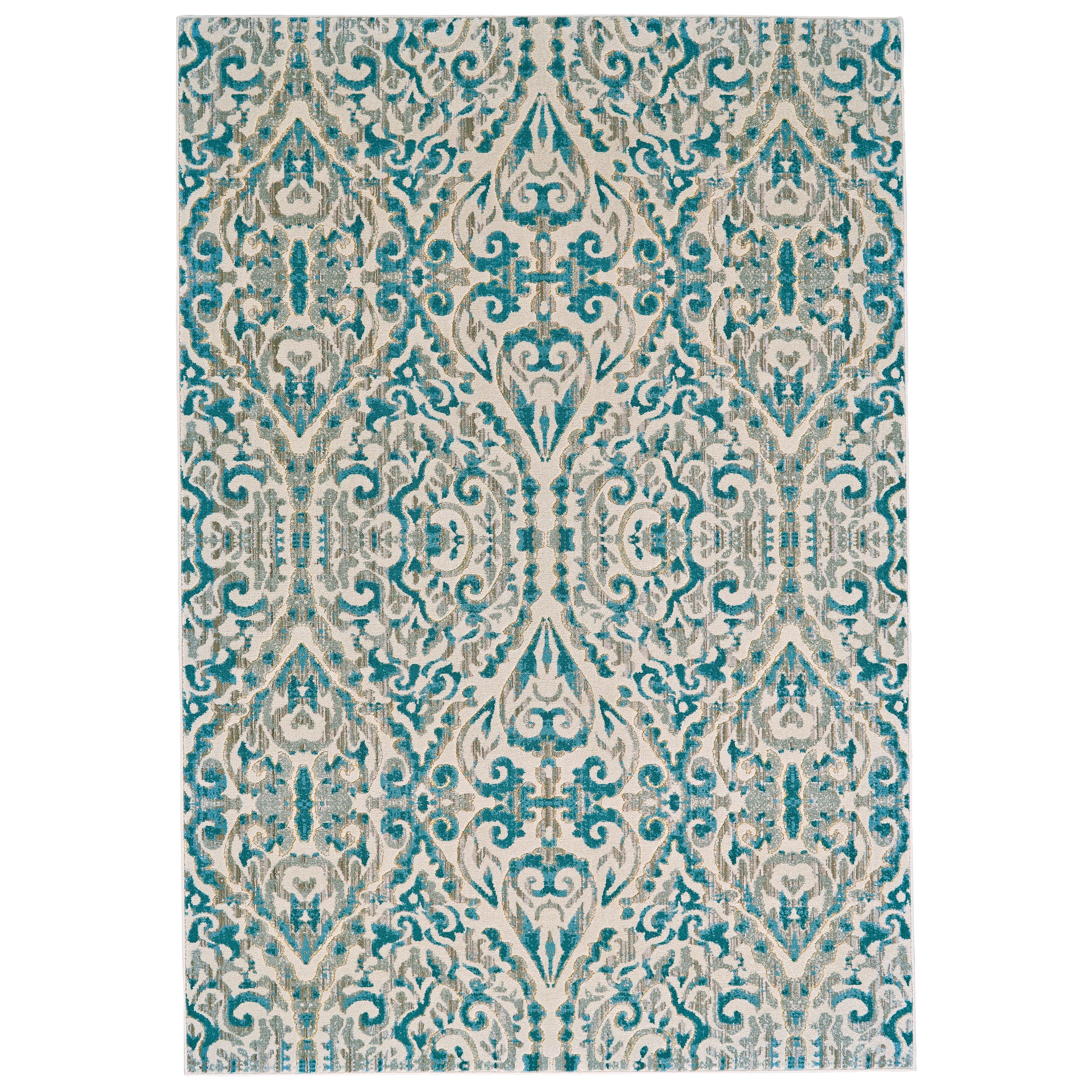 Bungalow rose saleya turquoise area rug reviews wayfair for Turquoise area rug