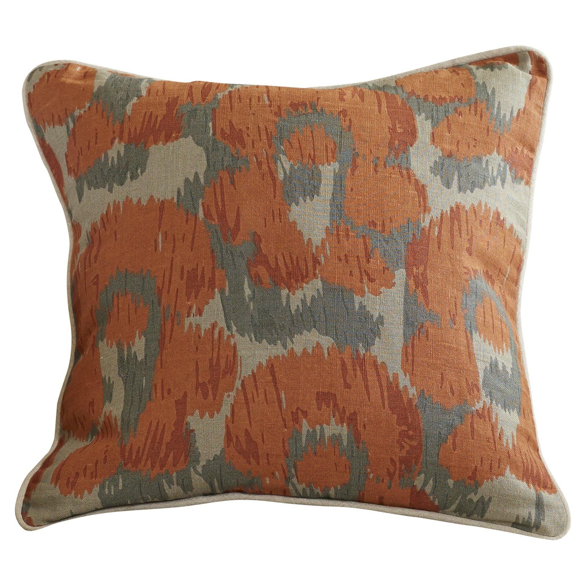 Lavender Throw Pillows : Bungalow Rose Rhiannon Jaguar Print Linen Throw Pillow & Reviews Wayfair