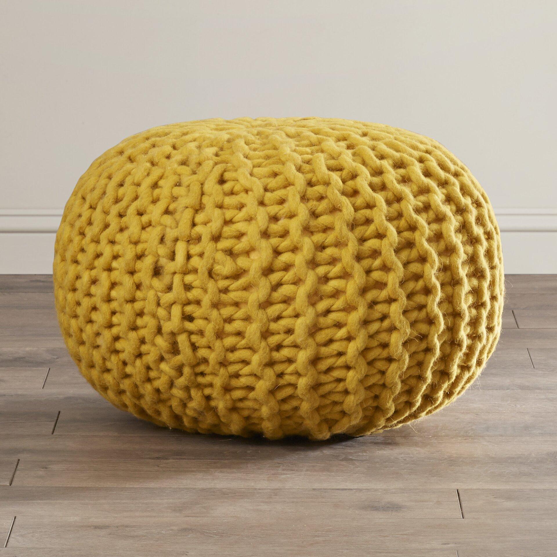 bungalow rose valkenburg sphere pouf ottoman reviews wayfair. Black Bedroom Furniture Sets. Home Design Ideas