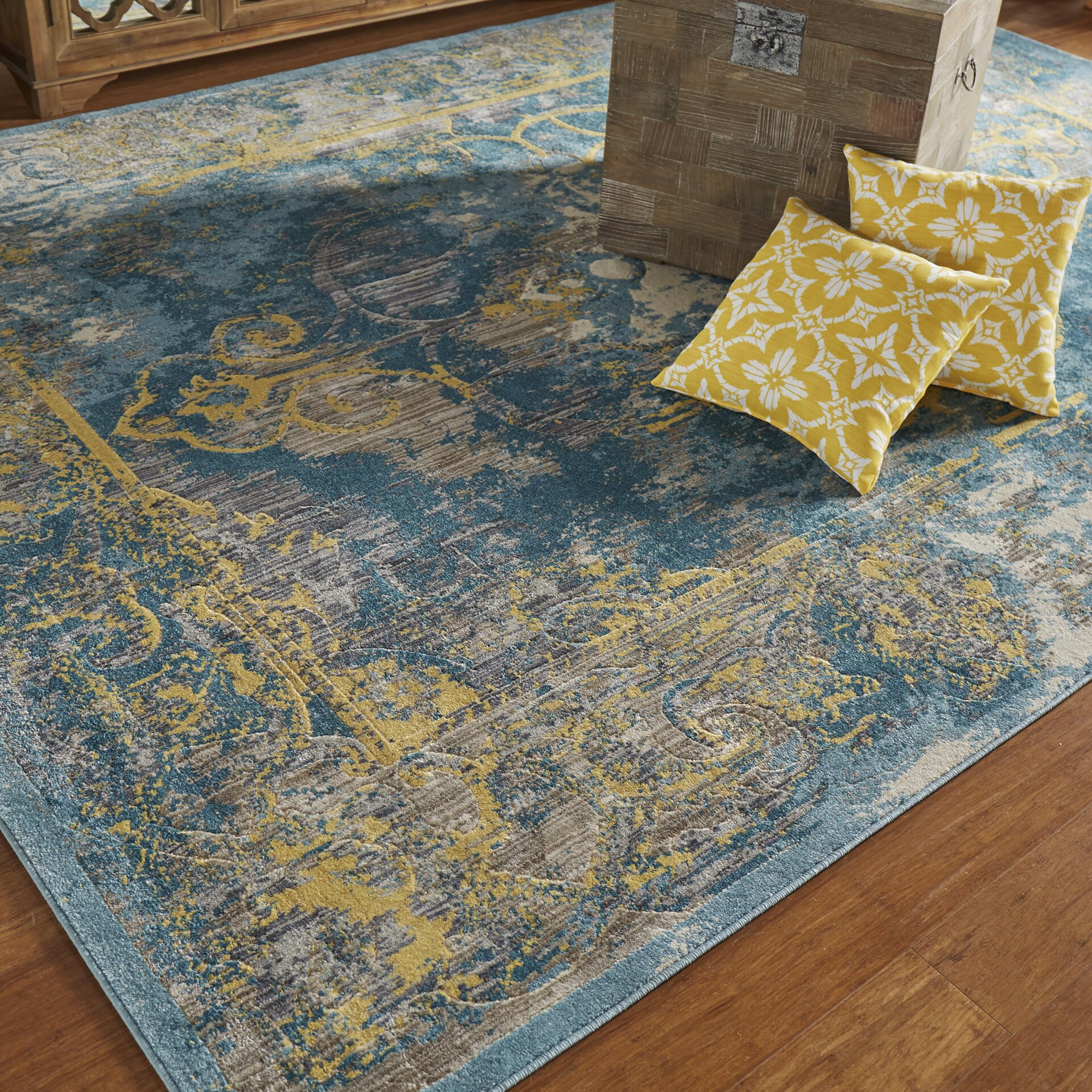 Bungalow Rose Saleya Lagoon Area Rug & Reviews