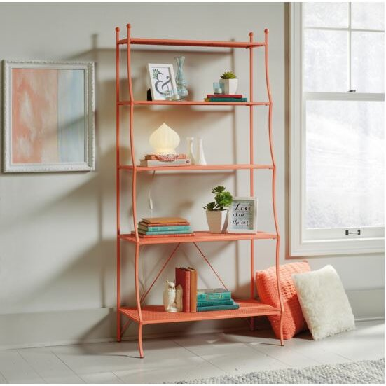 bungalow rose venlo 66 etagere bookcase reviews wayfair. Black Bedroom Furniture Sets. Home Design Ideas