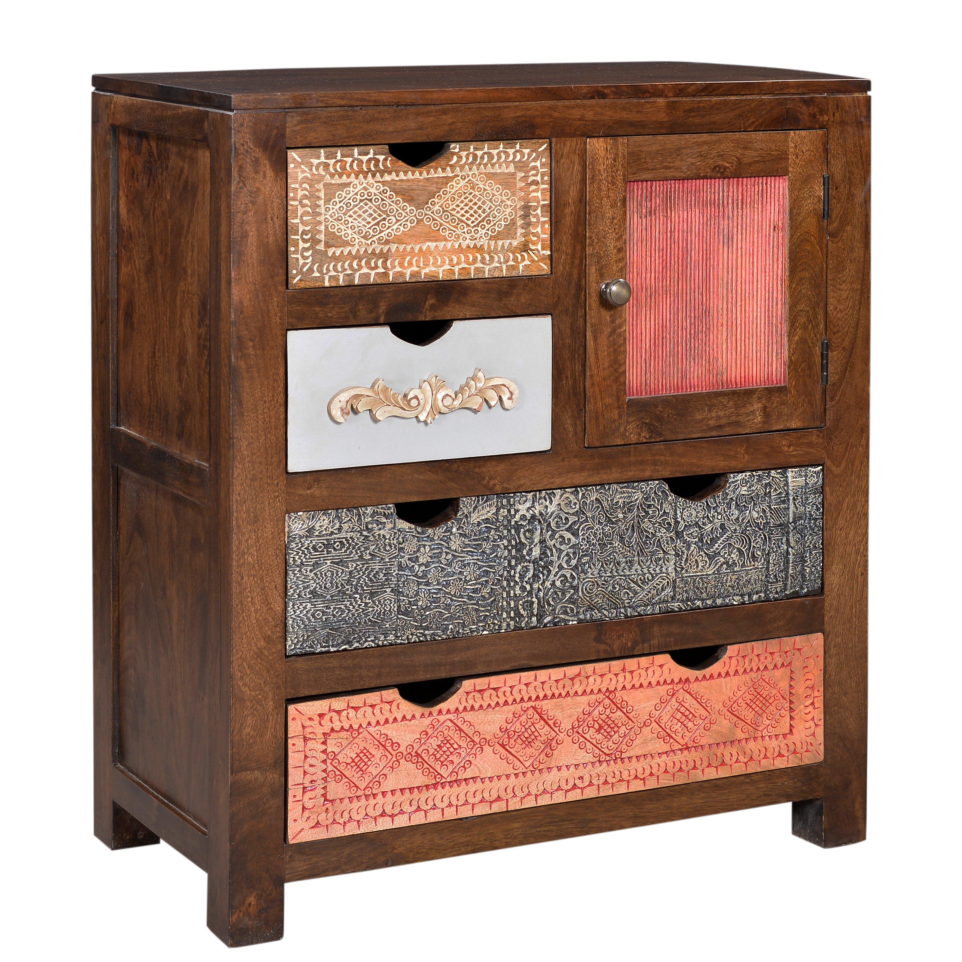 Bungalow Rose Navya Wood Storage Bedroom Bench Reviews: Bungalow Rose Odense 4 Drawer Cabinet & Reviews