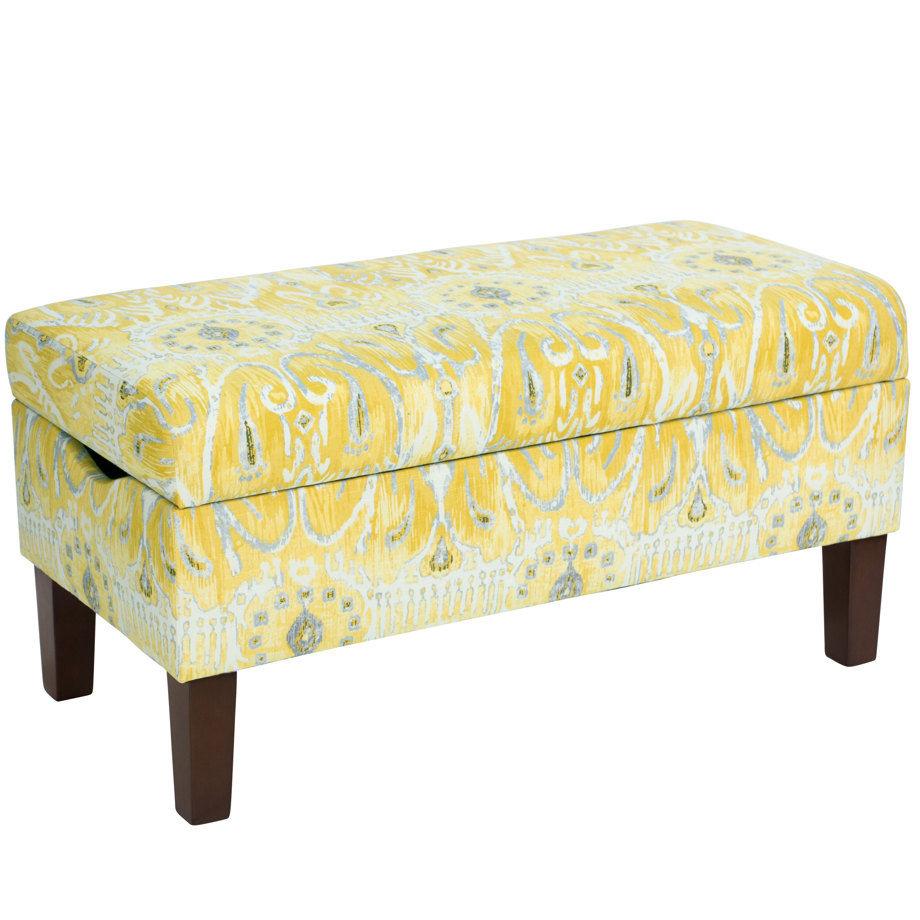 Bungalow rose normandie cotton upholstered storage bedroom - Bedroom storage bench upholstered ...