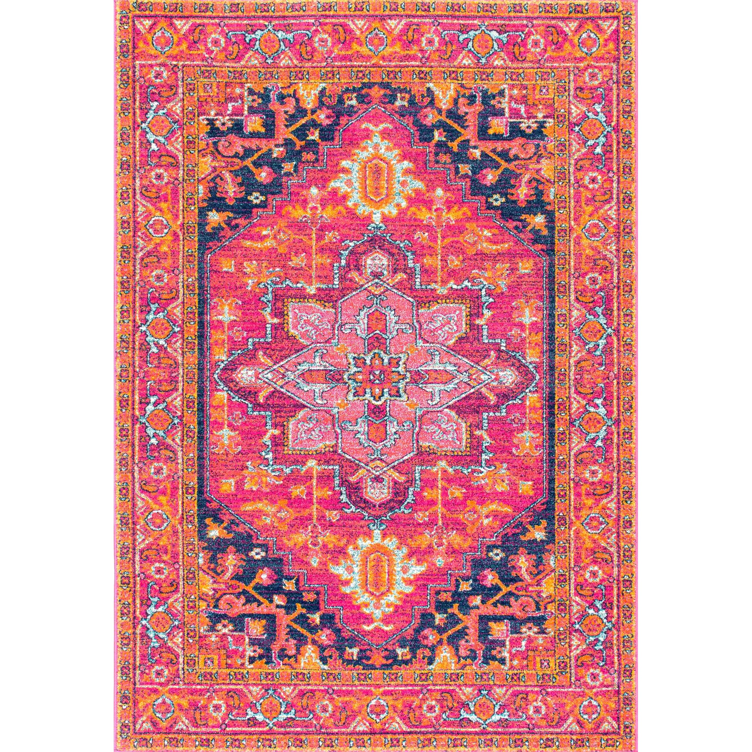Bungalow Rose Barksdale Blooming Pink Area Rug & Reviews