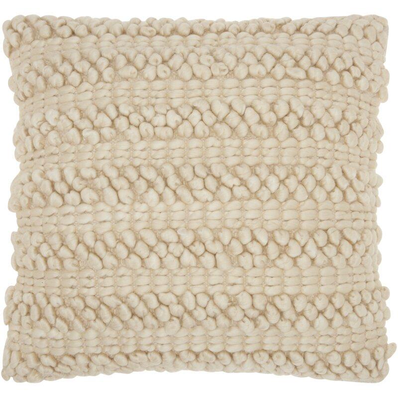 Jute Throw Pillow : Bungalow Rose Prony Woven Stripes Jute Throw Pillow & Reviews Wayfair