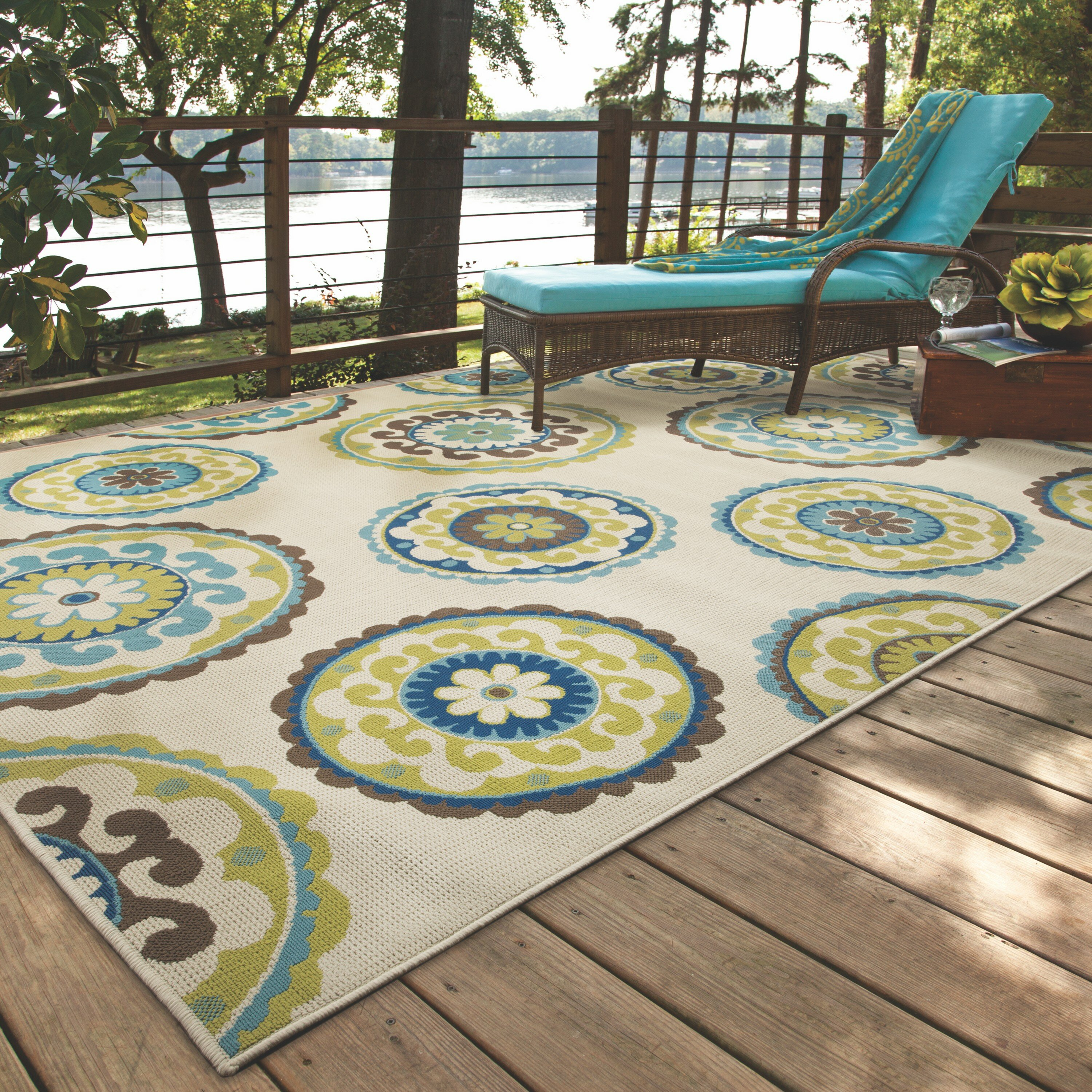bungalow rose capri beige green indoor outdoor area rug. Black Bedroom Furniture Sets. Home Design Ideas