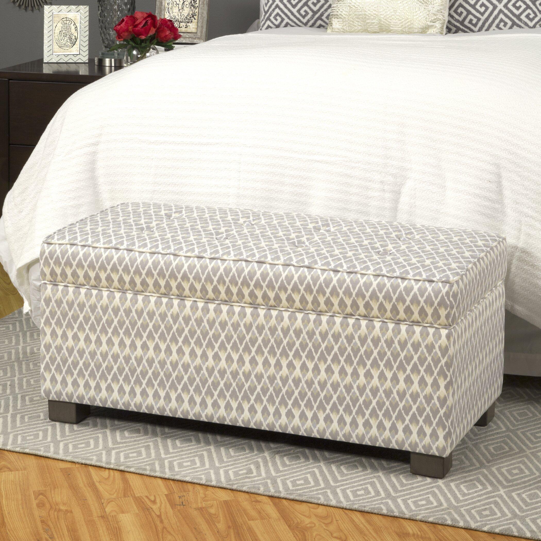 Bungalow Rose Mumtaz Upholstered Decorative Storage