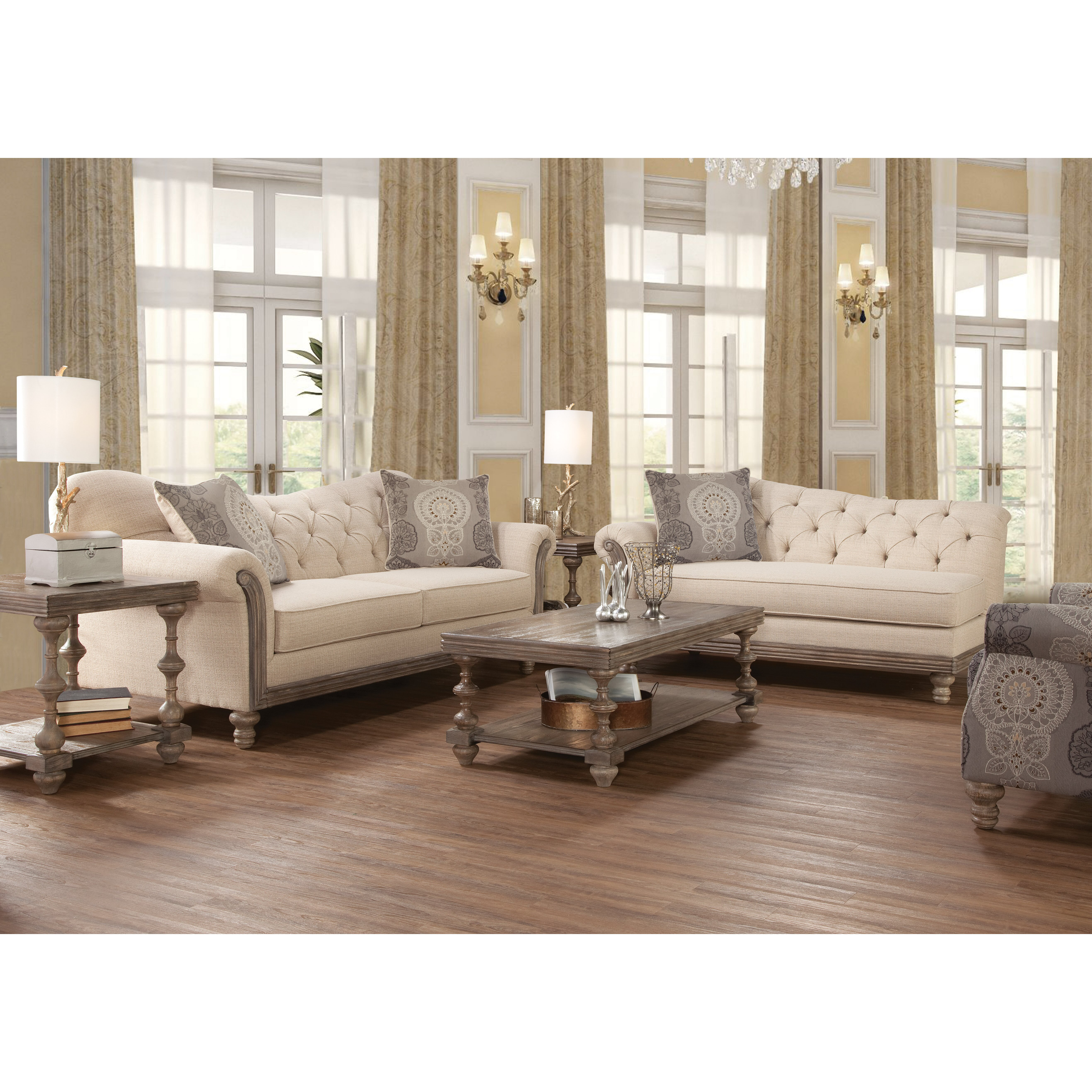 Bungalow rose roosa living room collection reviews wayfair for Living room furniture images