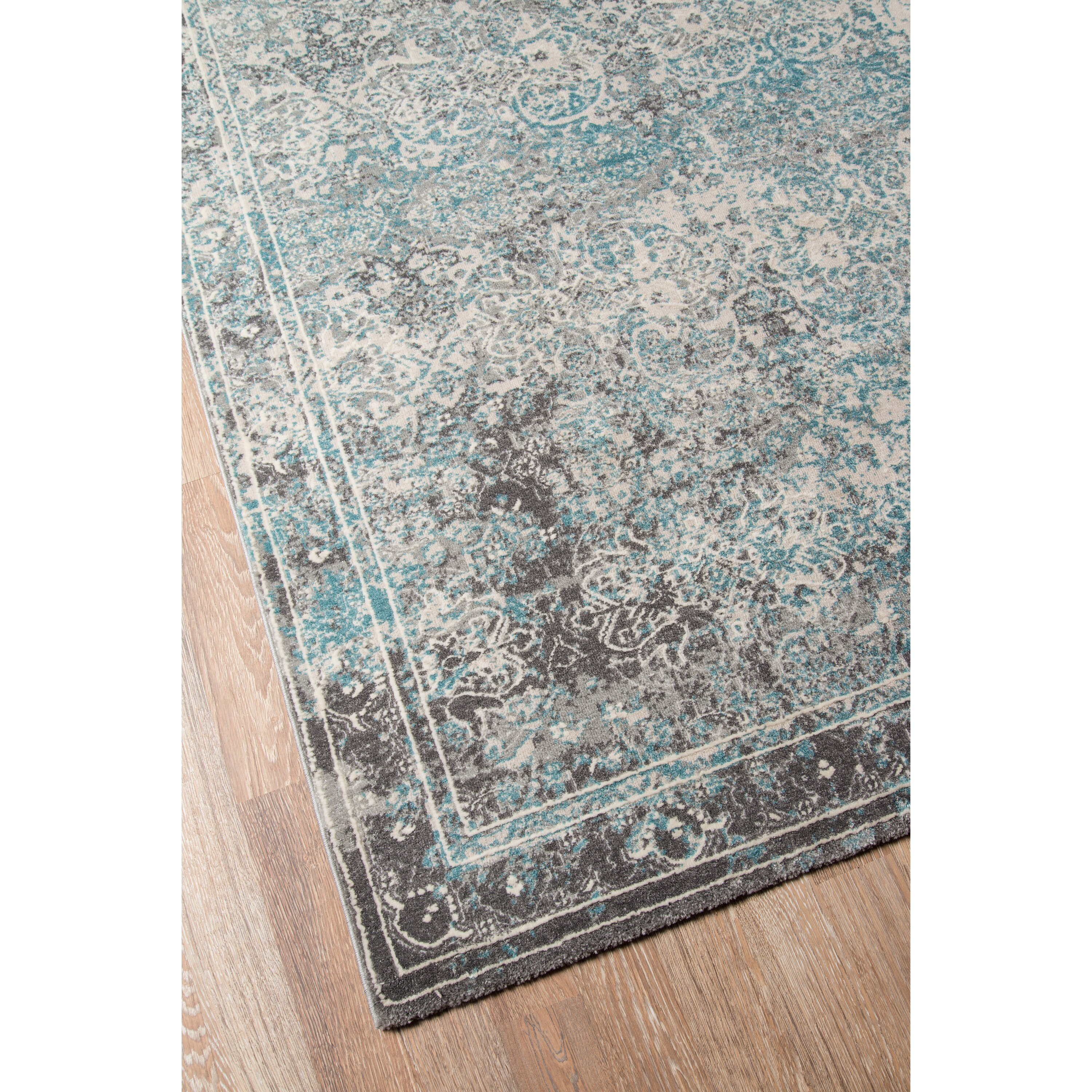 Bungalow Rose Daisie Turquoise Area Rug & Reviews