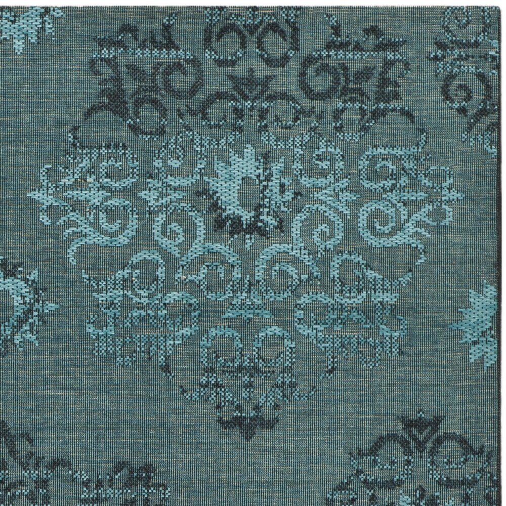 Bungalow Rose Saleya Turquoise Area Rug Reviews: Bungalow Rose Port Laguerre Velvety Black/Turquoise Area