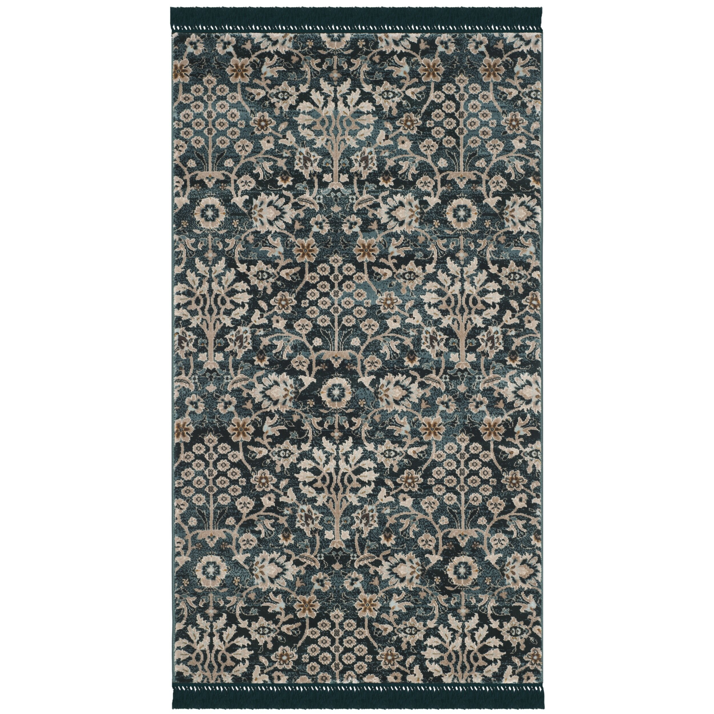 Bungalow rose zennia turquoise cream area rug reviews for Turquoise area rug