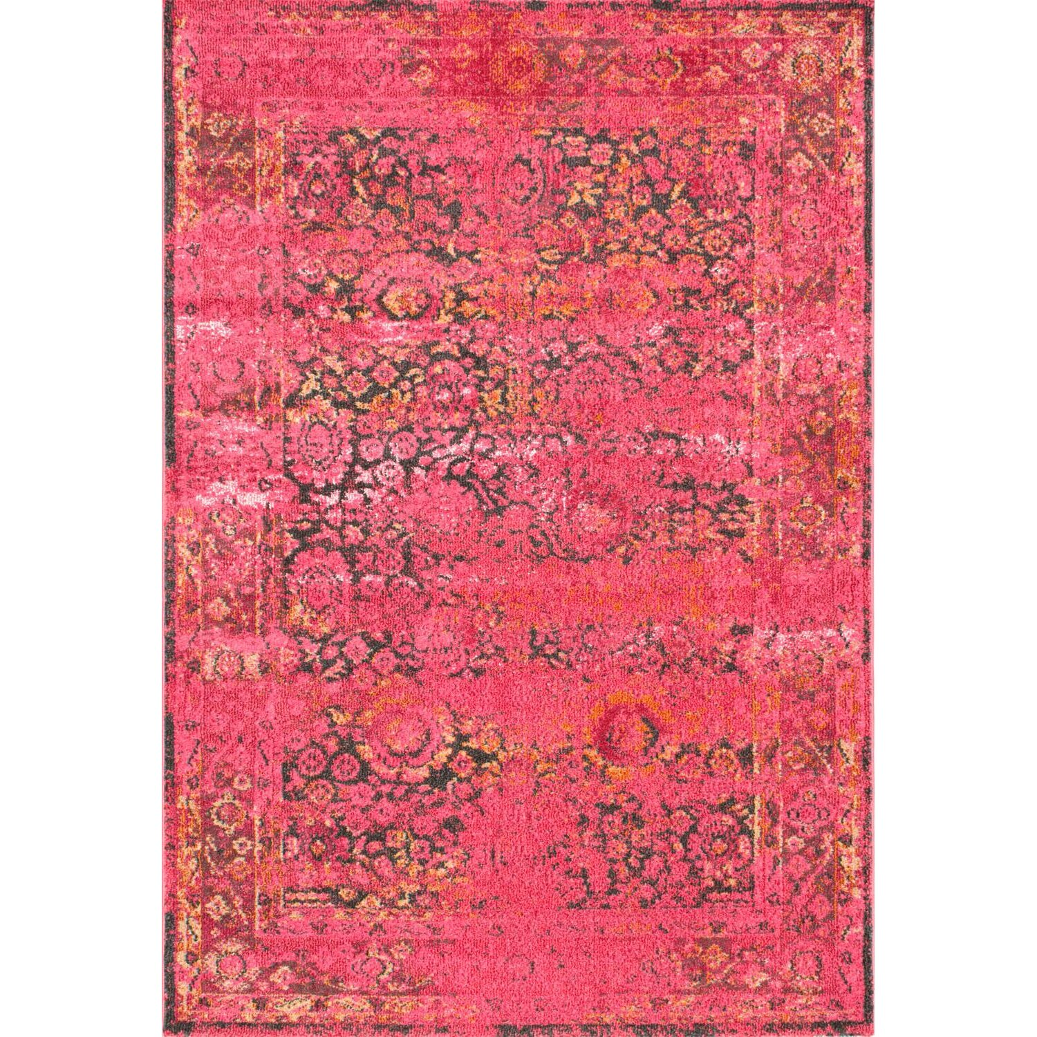 Bungalow Rose Varun Shuler Cherry Pink Area Rug & Reviews