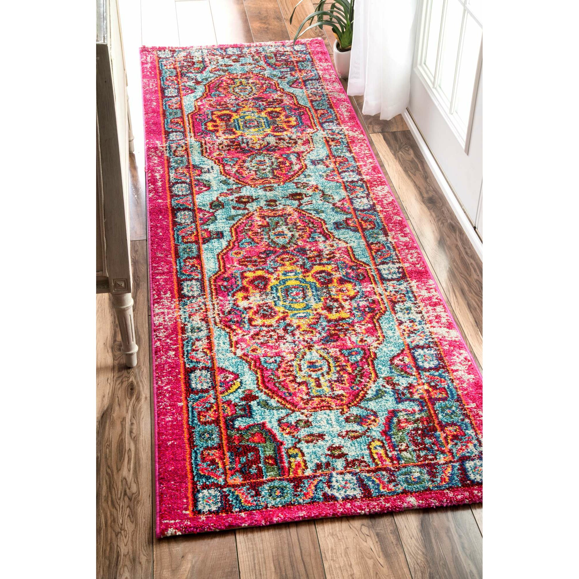 Bungalow Rose Loughlam Pink Area Rug & Reviews