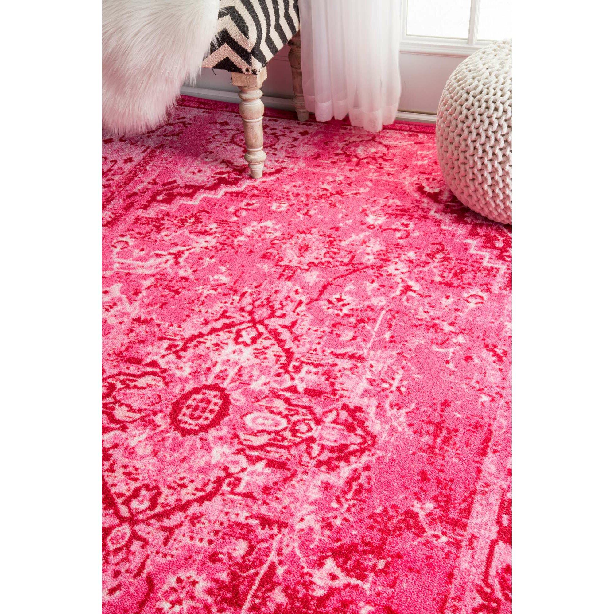 Bungalow Rose Kapadia Pink Area Rug & Reviews