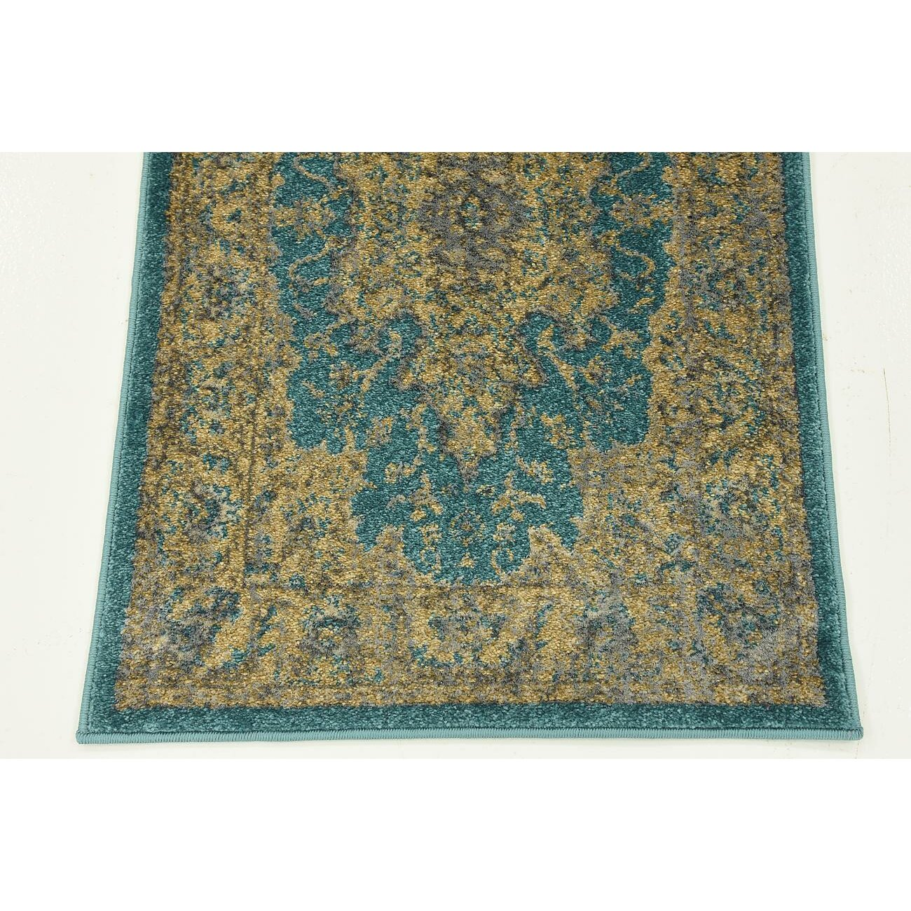 Bungalow Rose Sepe Teal Area Rug & Reviews