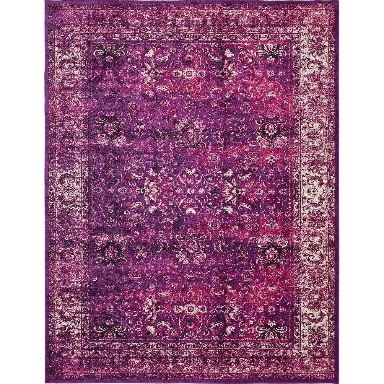 Bungalow Rose Yareli Lilac Violet Area Rug Amp Reviews Wayfair