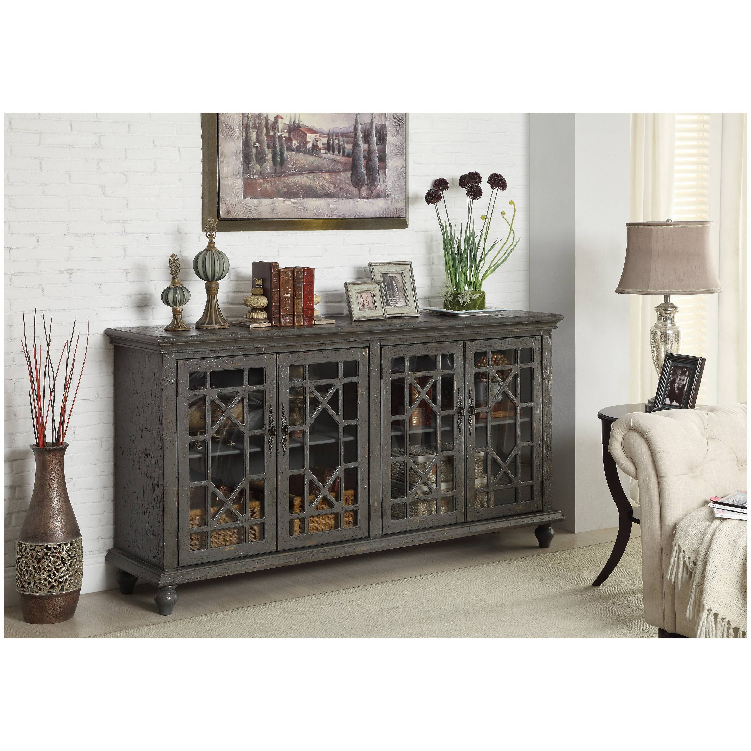 Bungalow rose jaouhara tv stand reviews wayfair for Glass living room furniture company