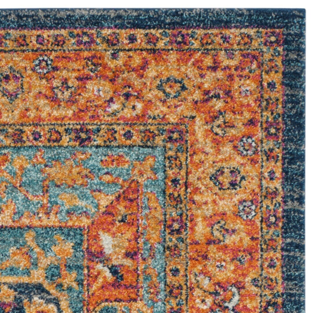 Bungalow Rose Ameesha Blue Orange Area Rug Amp Reviews Wayfair