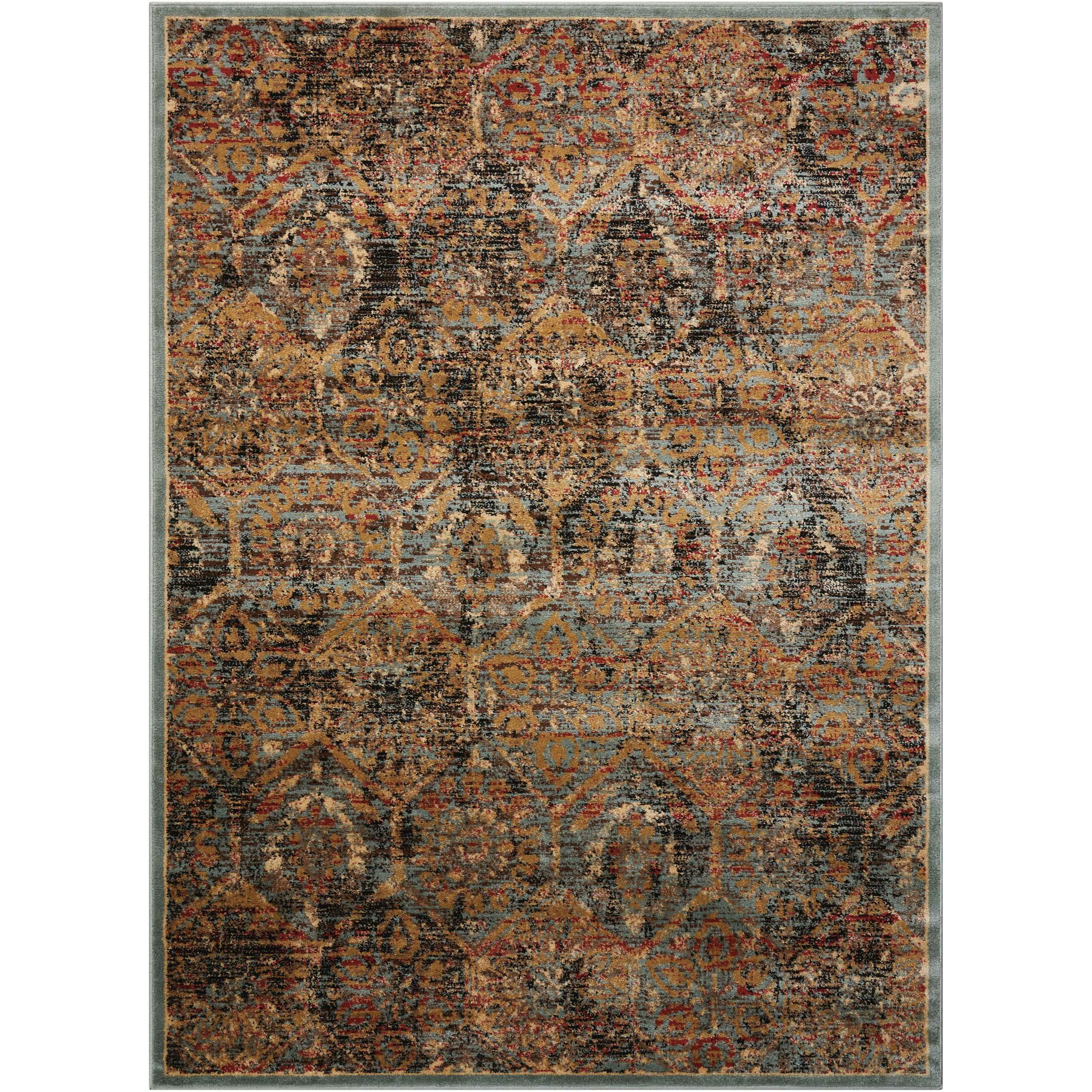bungalow rose shimer blue orange area rug reviews wayfair. Black Bedroom Furniture Sets. Home Design Ideas