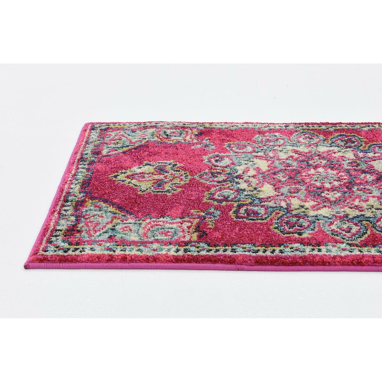 Bungalow Rose Fujii Pink Area Rug Reviews