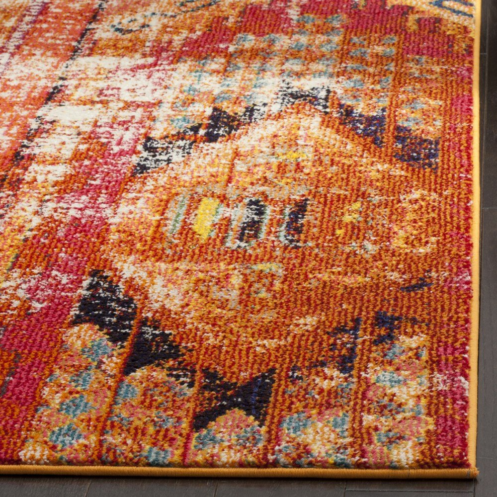 Bungalow Rose Crosier Orange Area Rug & Reviews