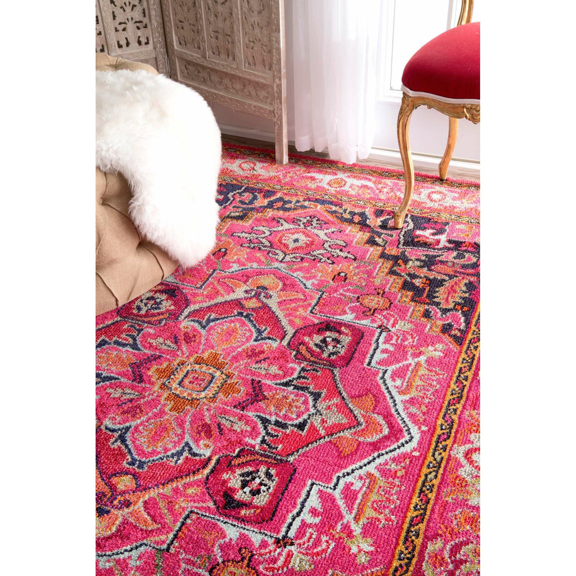 Bungalow Rose Sashi Pink Area Rug & Reviews