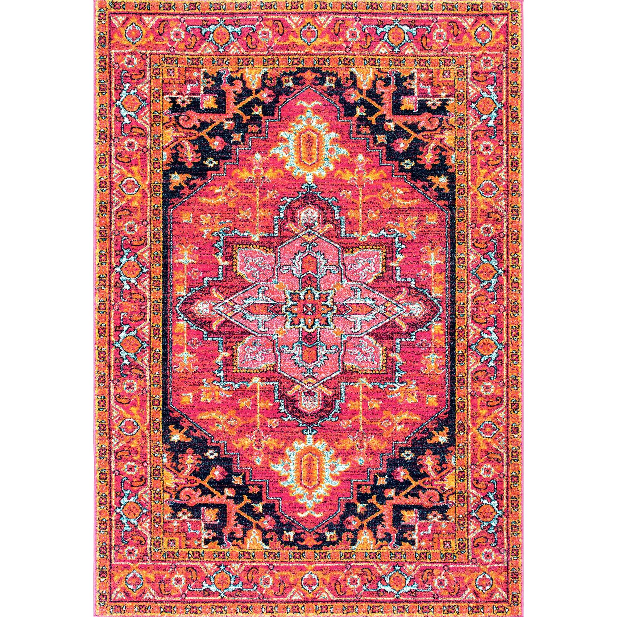 Bungalow Rose Barksdale Blooming Multi Colored Area Rug