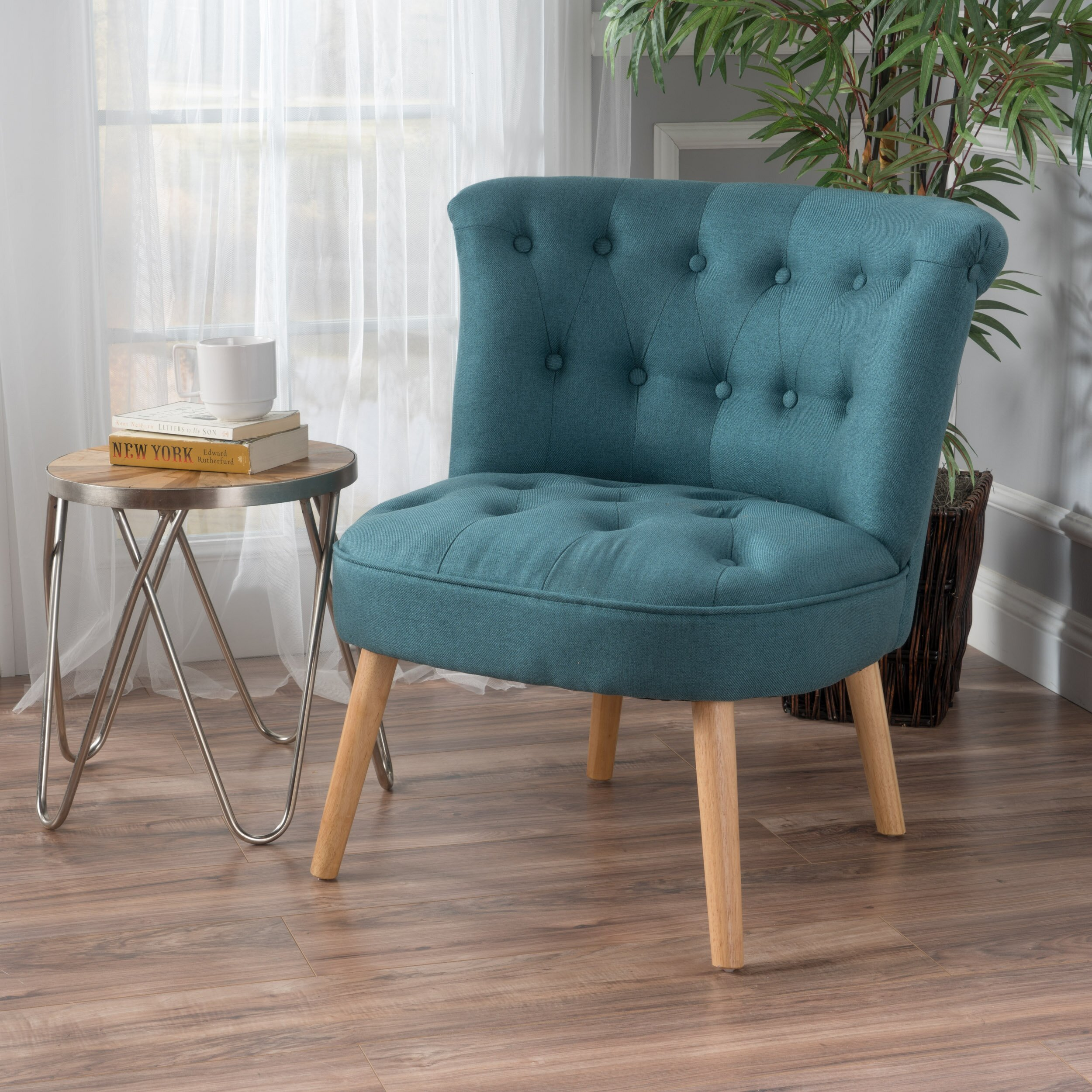 Bungalow Rose Leudelange Claudia Tufted Side Chair