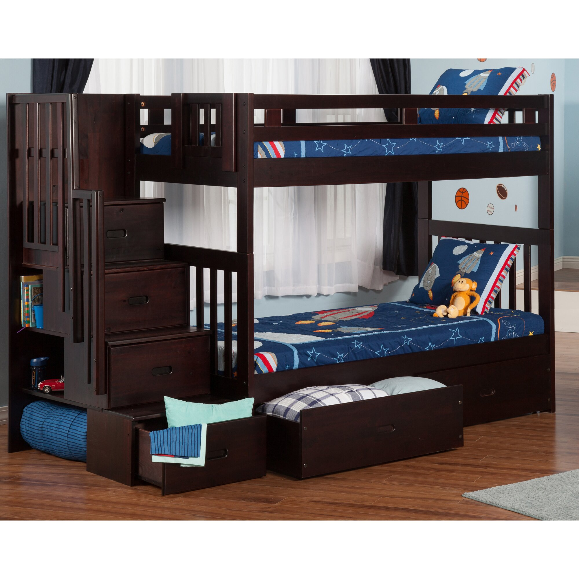 Viv Rae Margery Twin Bunk Bed With Storage Reviews
