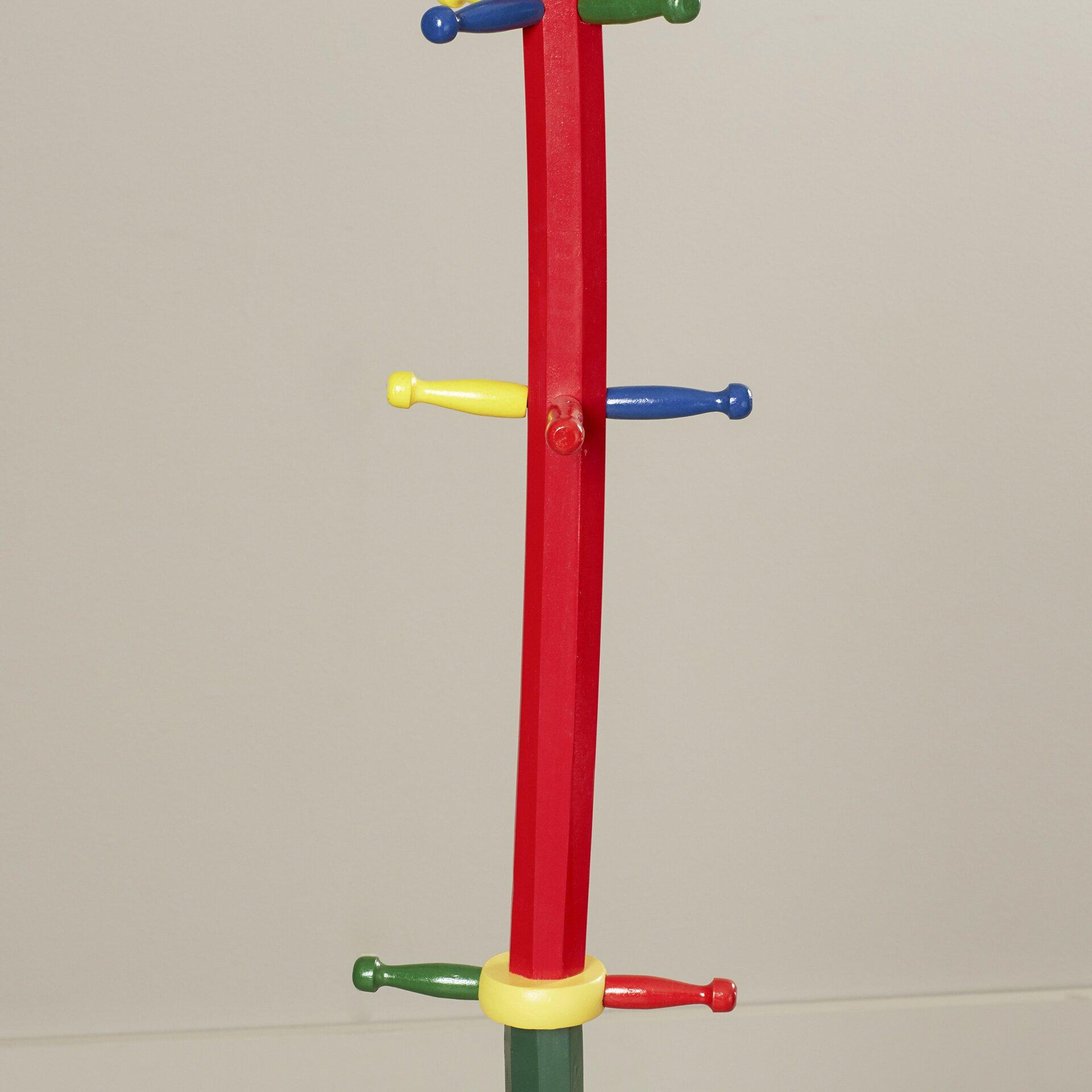 Viv rae kid 39 s pencil style coat rack reviews wayfair Kids coat rack