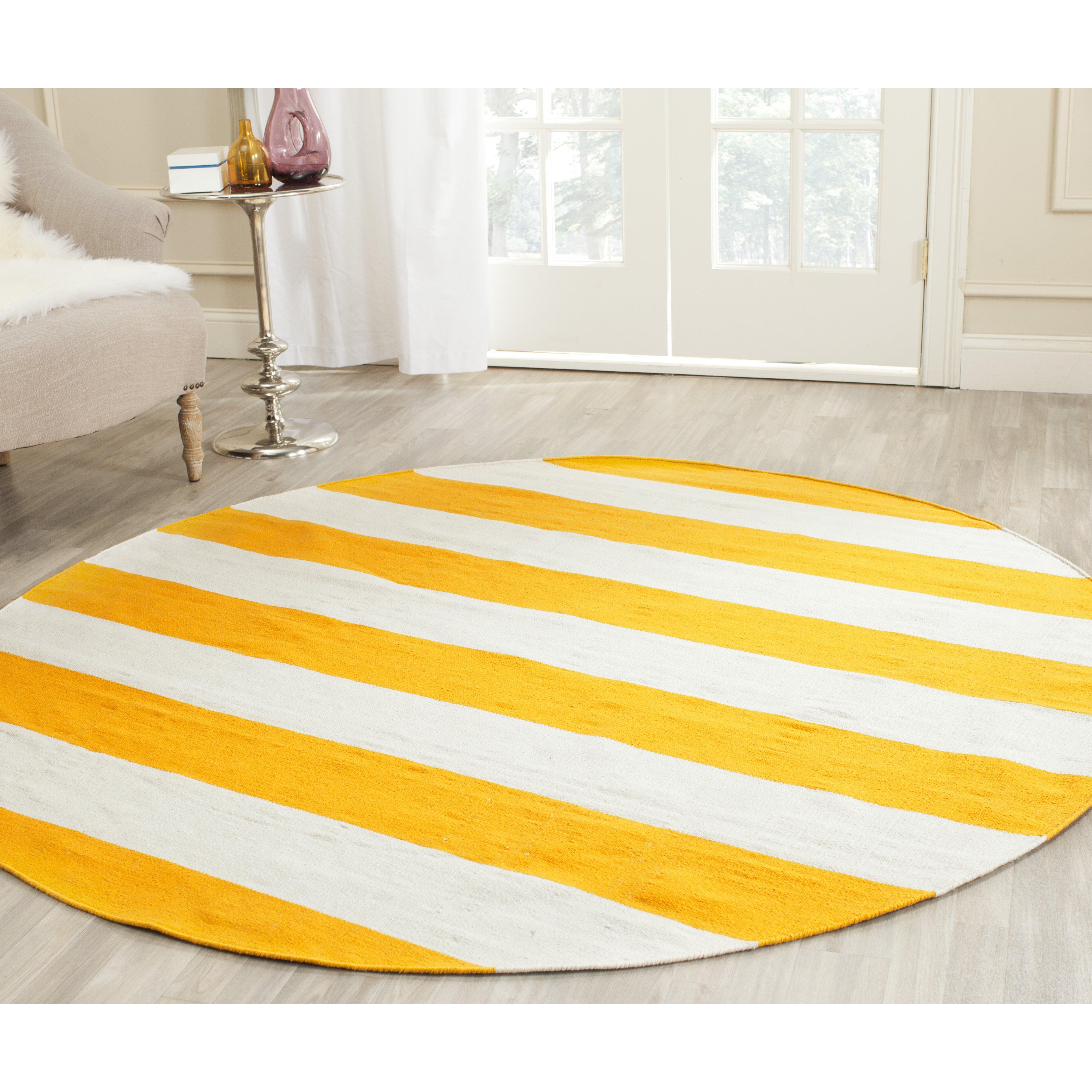 viv rae ike hand woven yellow white area rug reviews. Black Bedroom Furniture Sets. Home Design Ideas