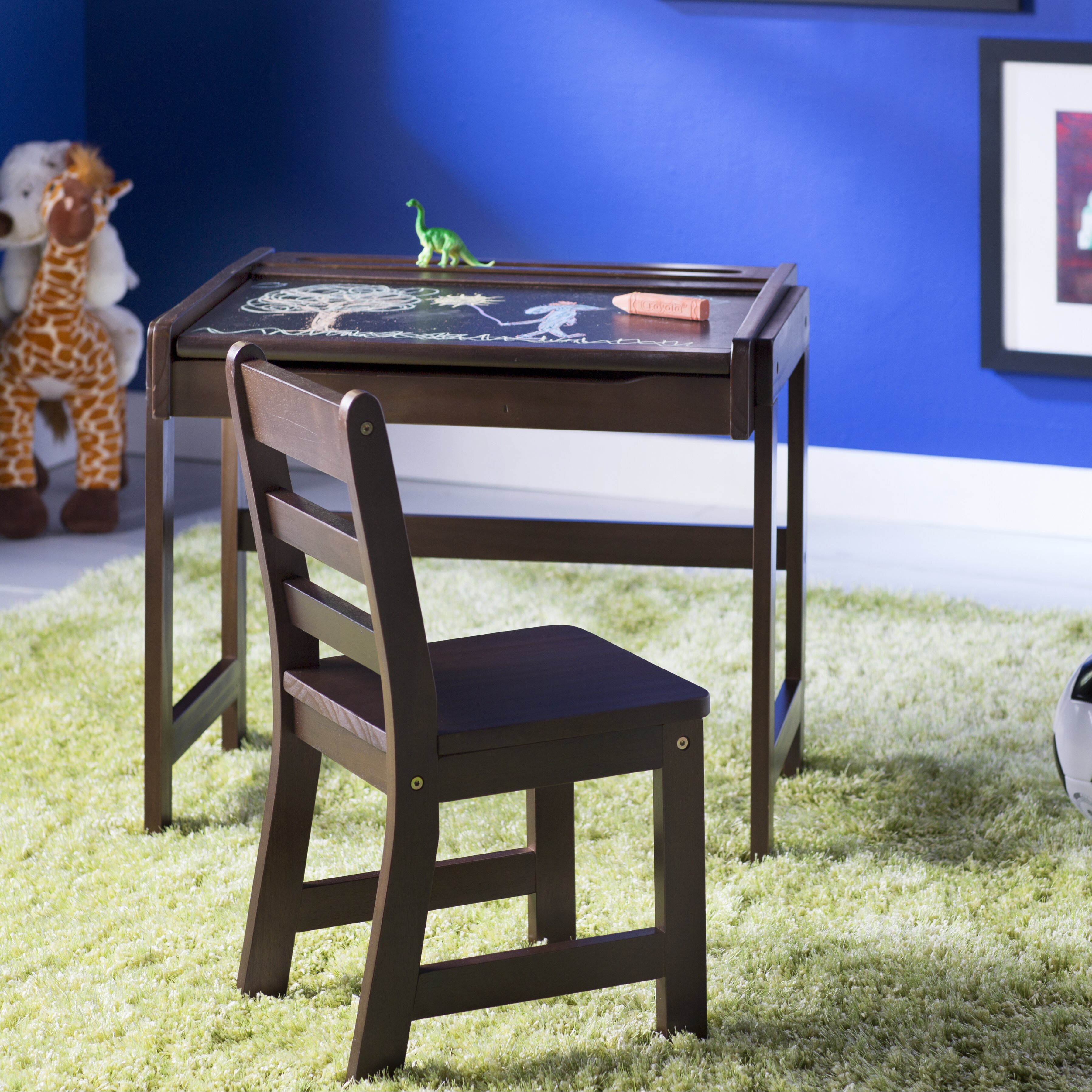 Viv Rae Alexa 25 Kids Desk With Chalkboard Top Amp Chair