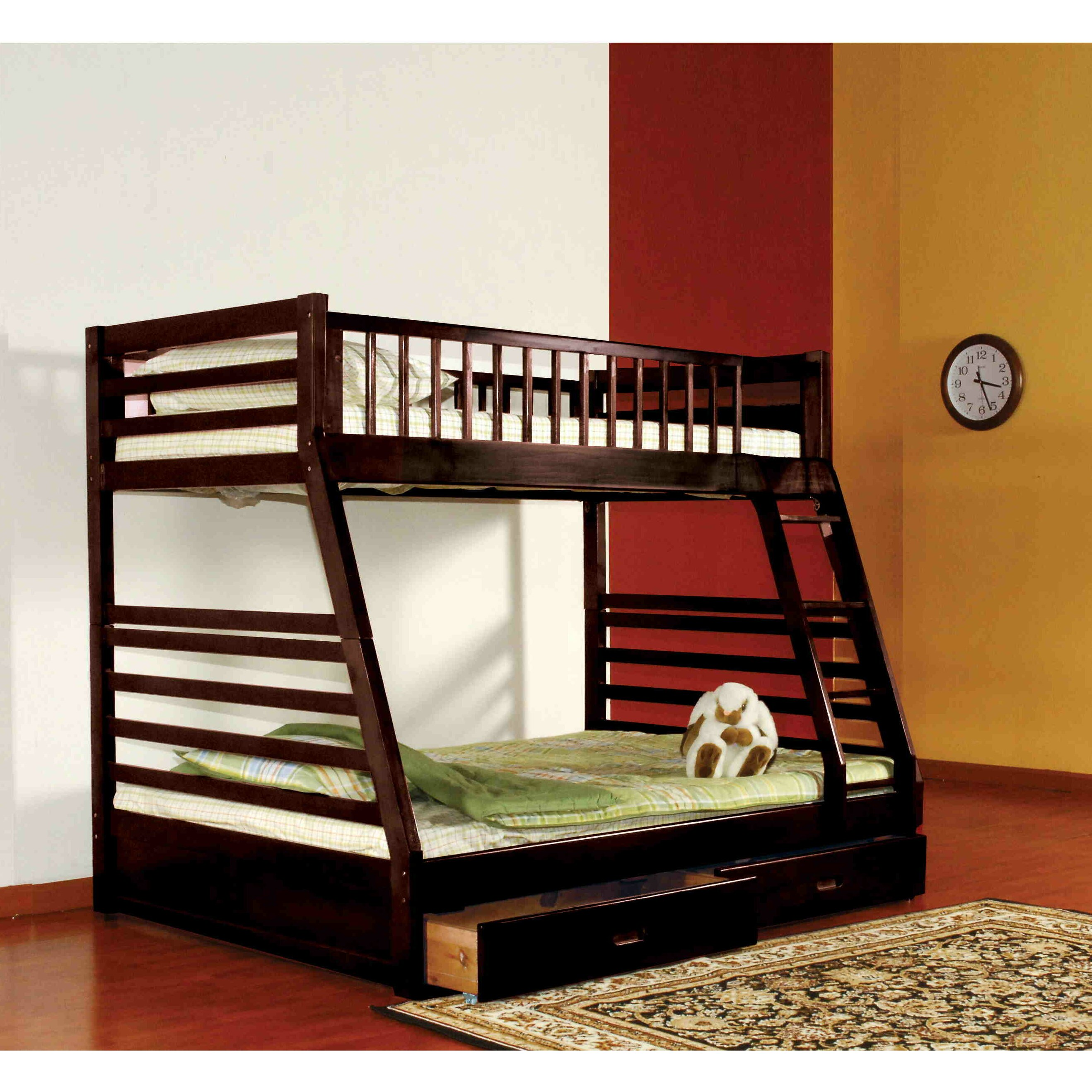 Viv Rae Billy Twin Over Full Bunk Bed with Storage