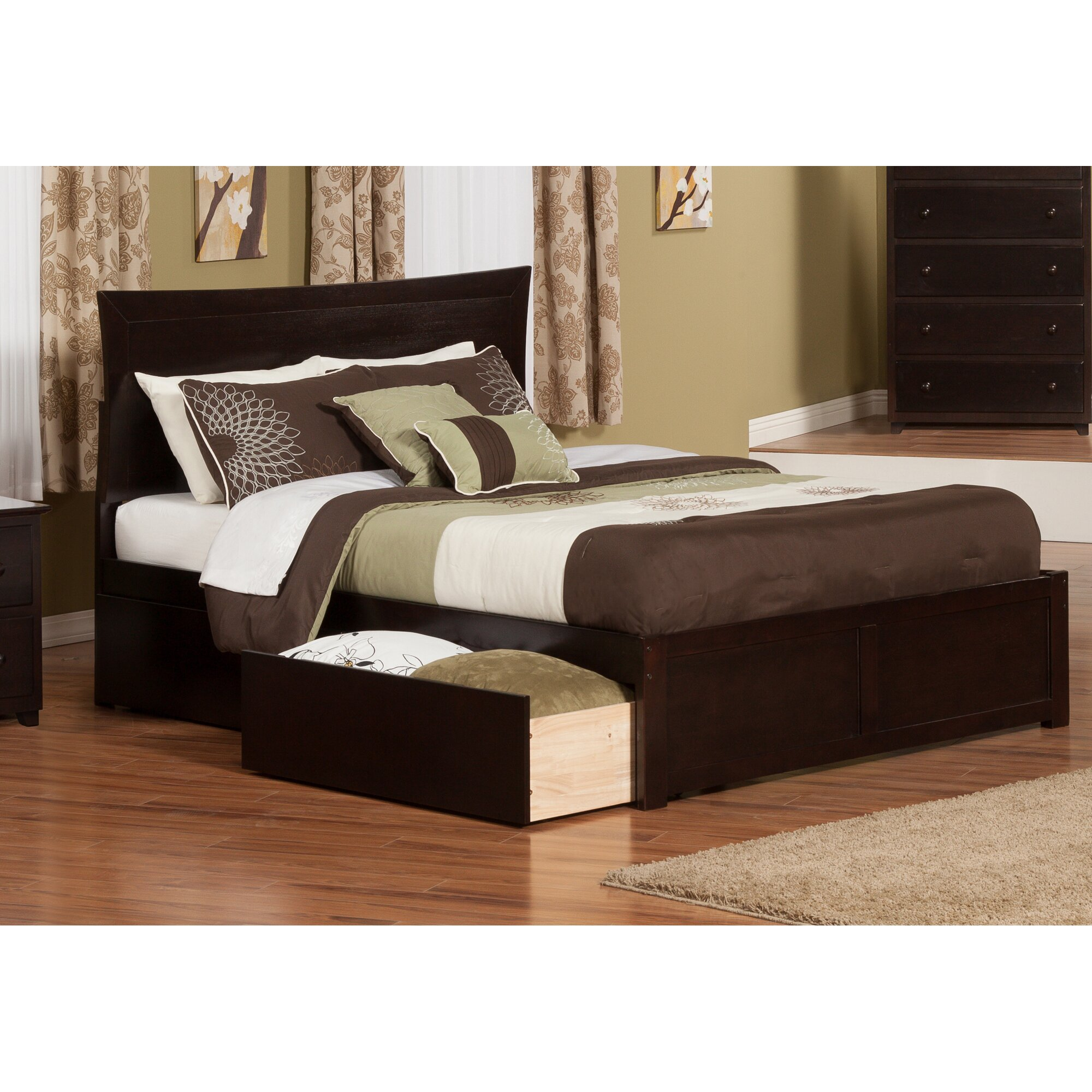 Viv rae maryanne king storage platform bed reviews Platform king bed