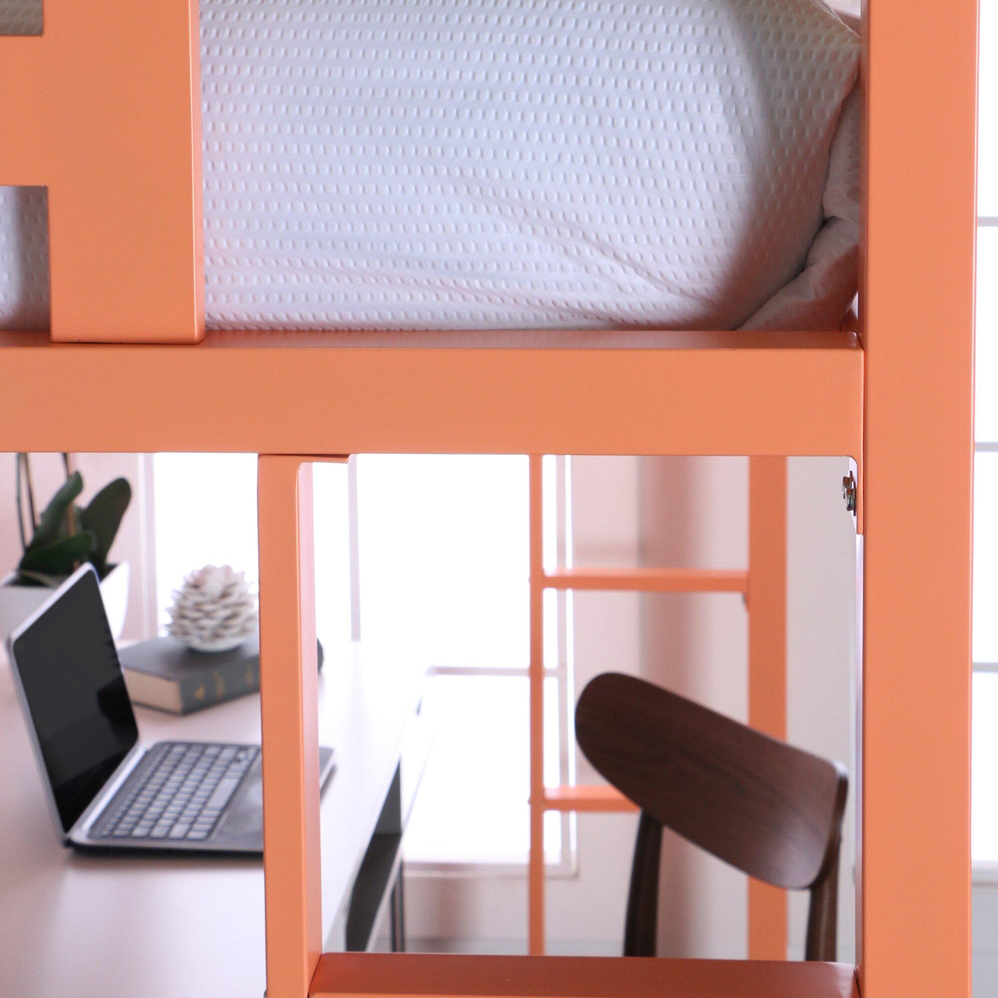 viv rae nikolai twin loft bed customizable bedroom set wayfair