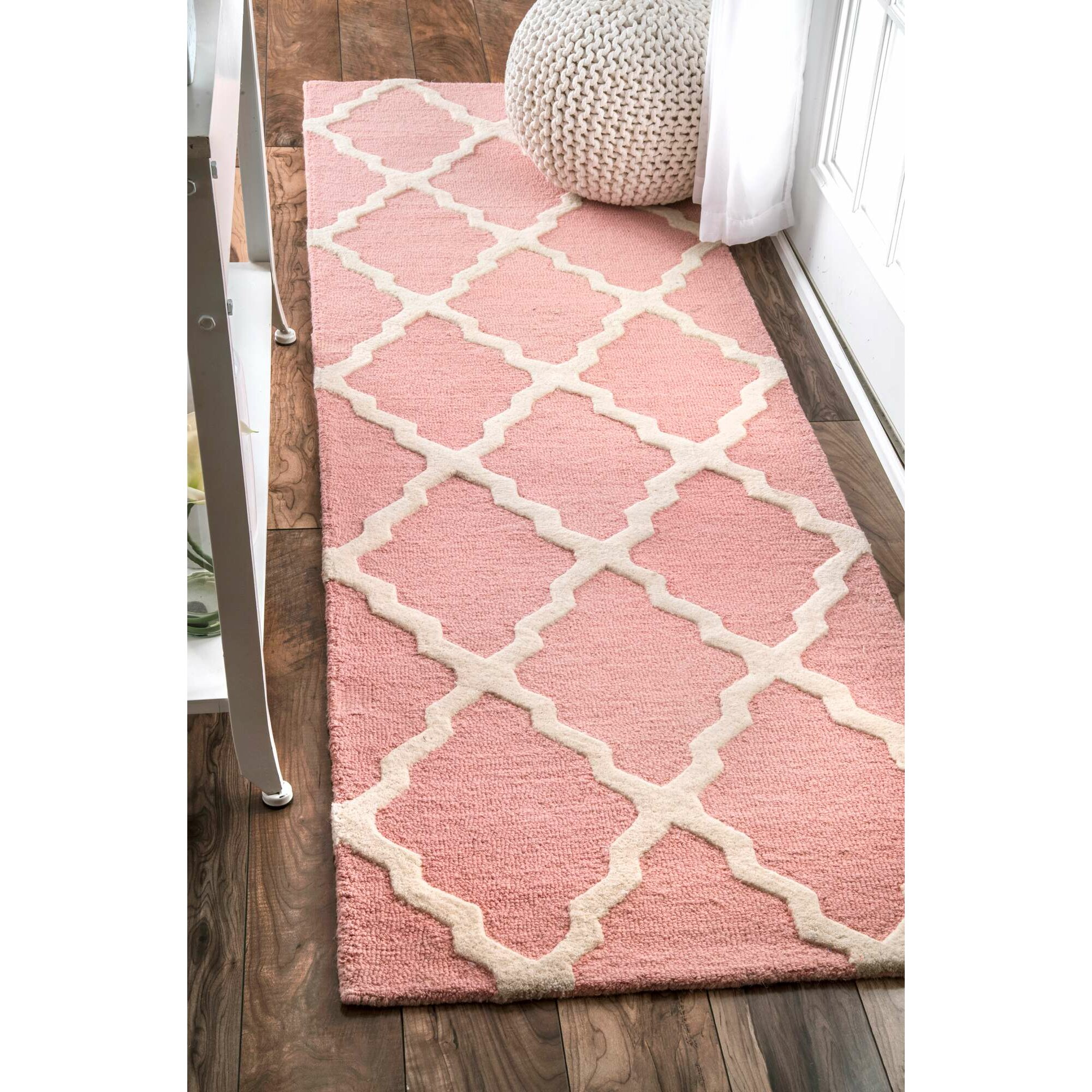 Viv + Rae Kristen Hand Hooked Baby Pink Area Rug & Reviews