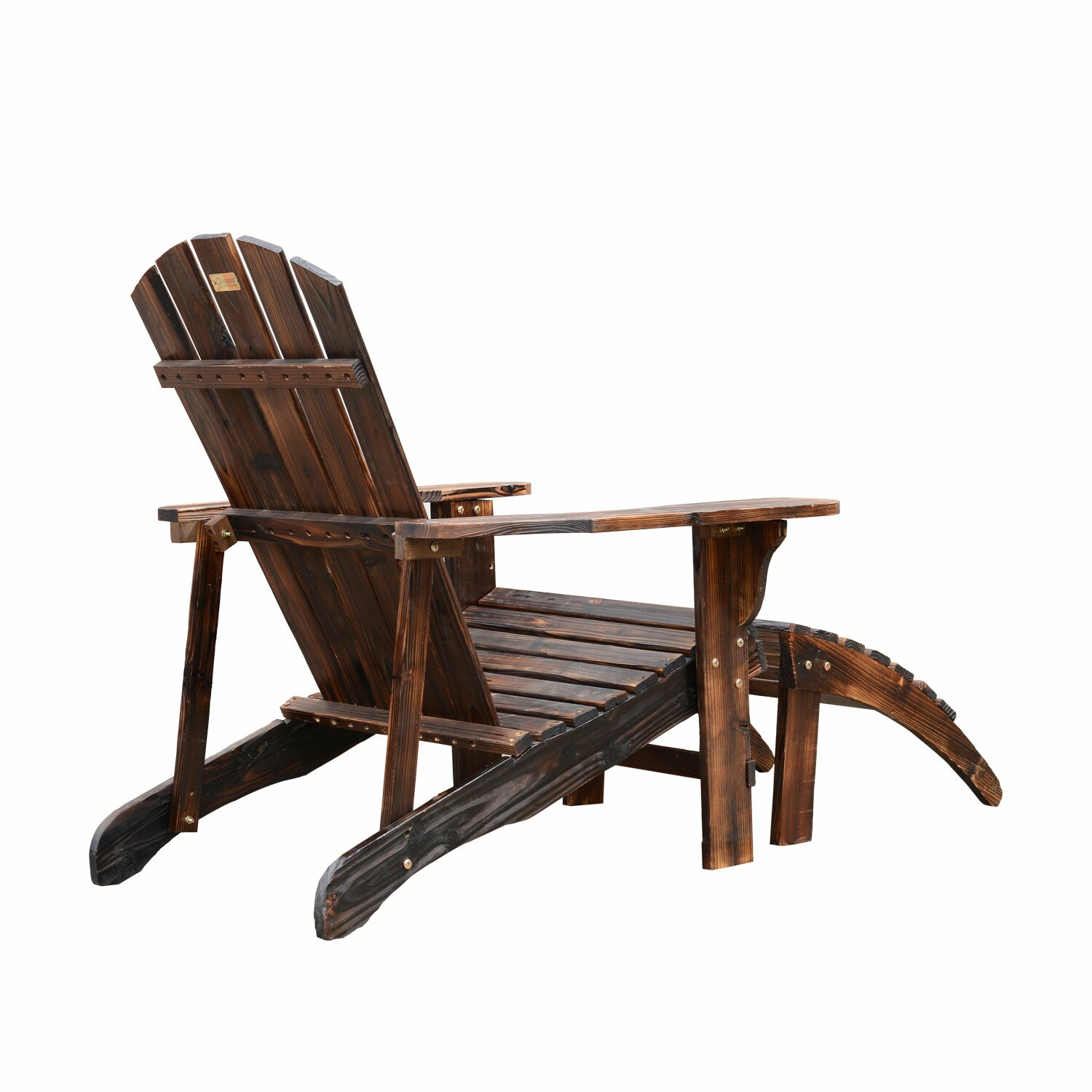 Outsunny Adirondack Chair With Ottoman Reviews Wayfair